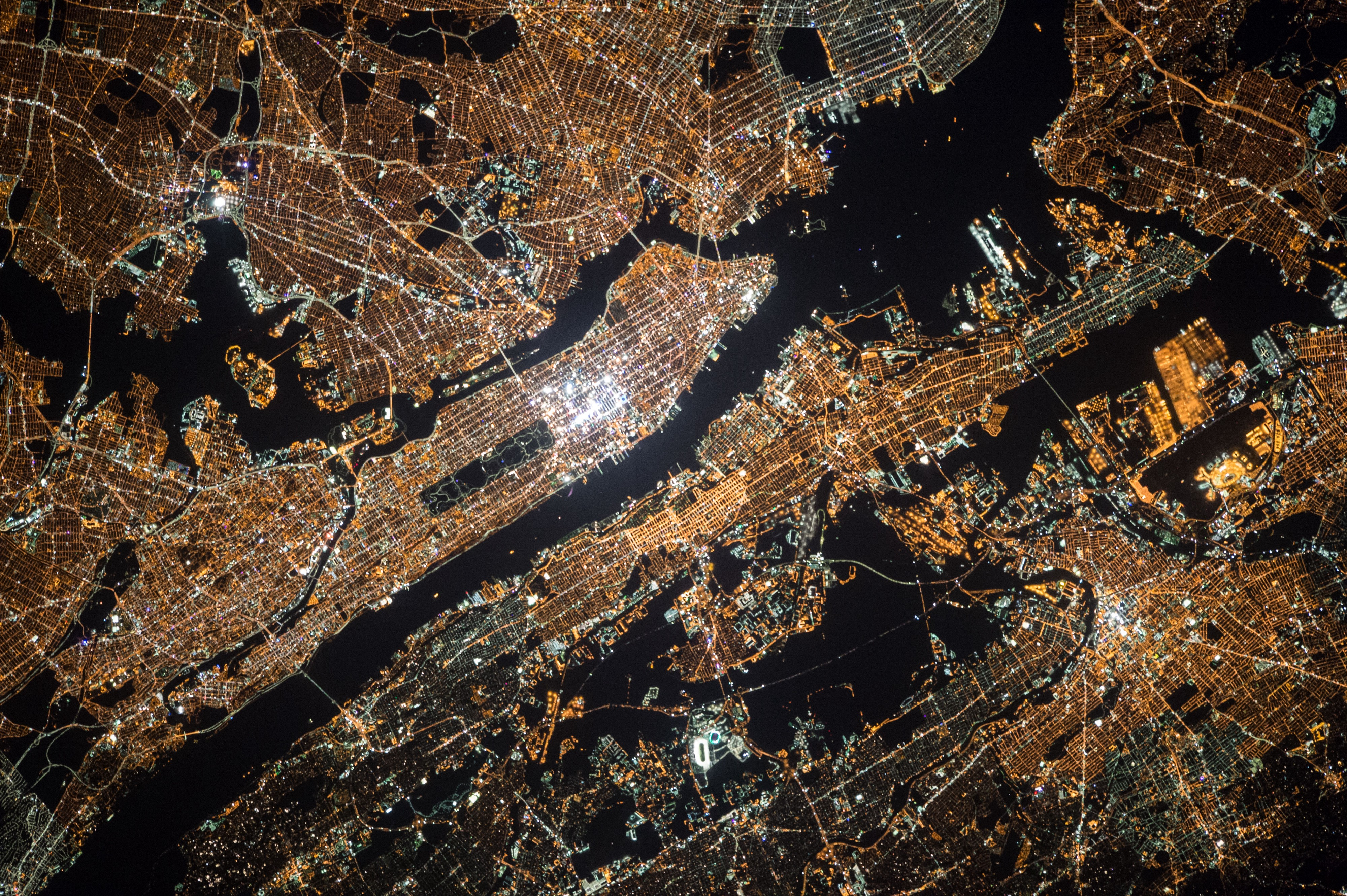 New York City from the space