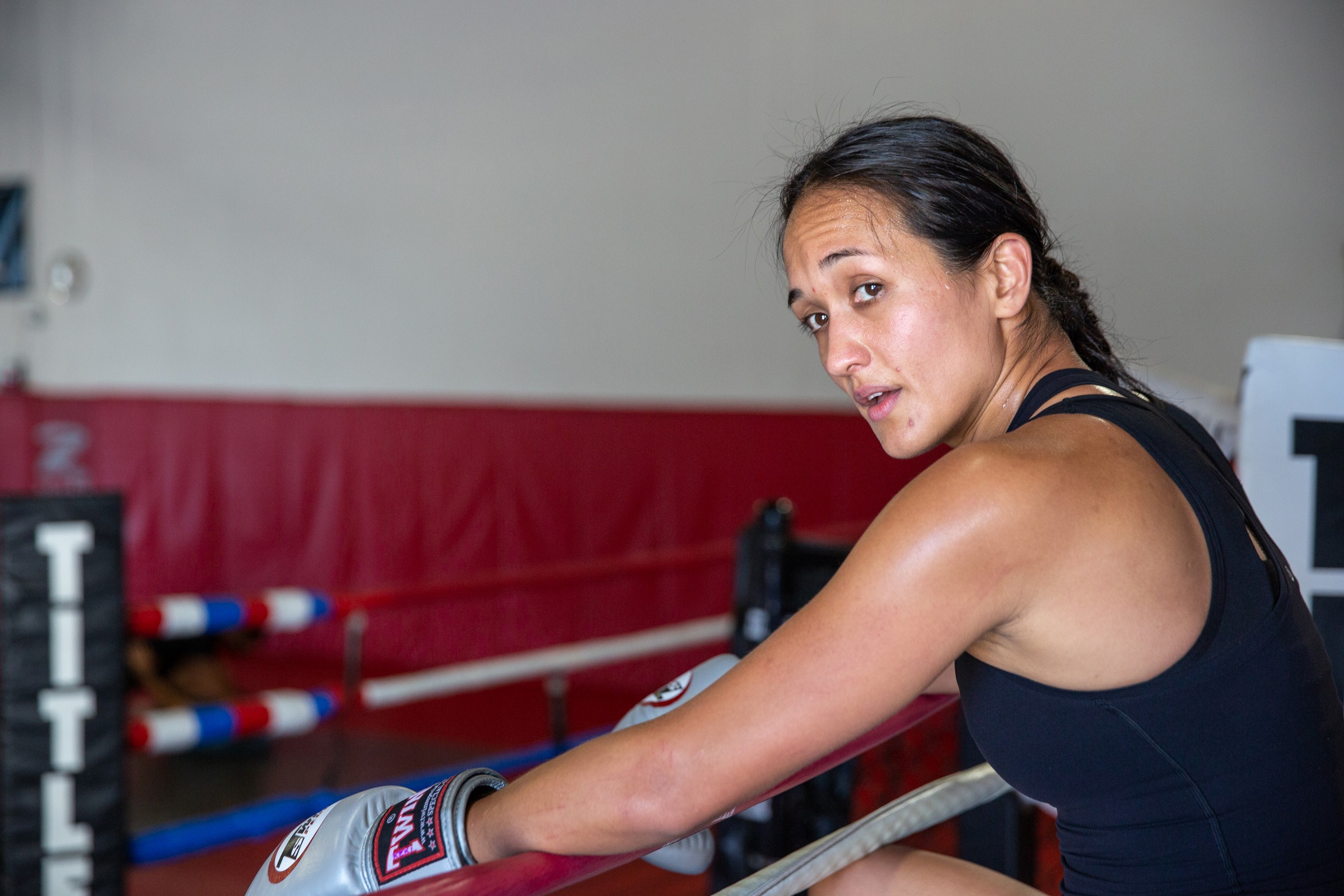 In the ring with local MMA fighter (and mother) Keri Melendez