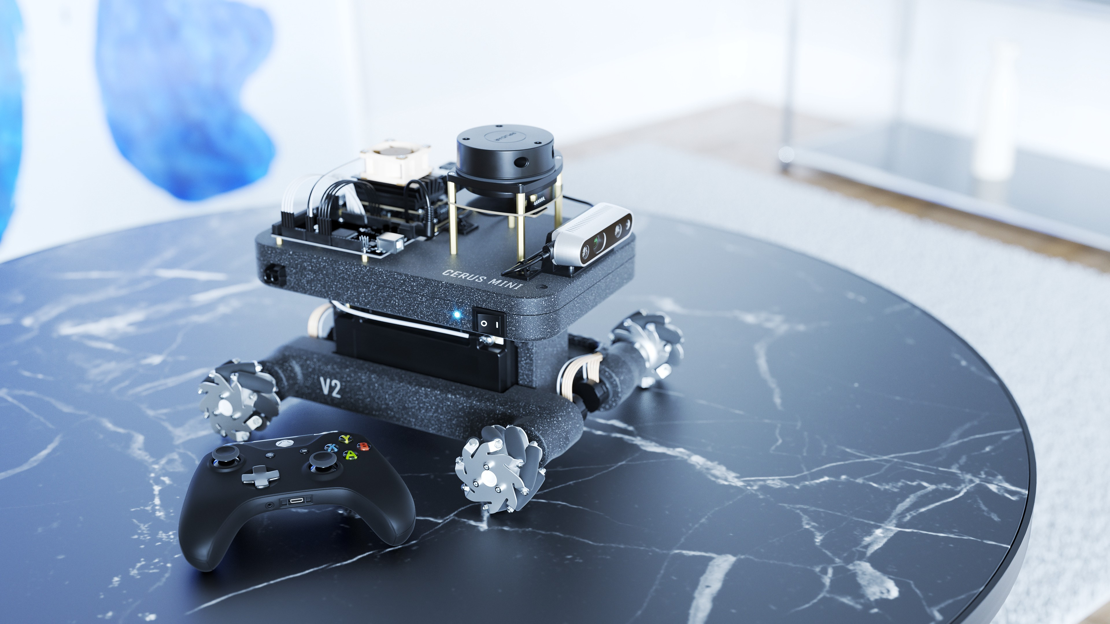 Cerus mobile robot with Xbox controller