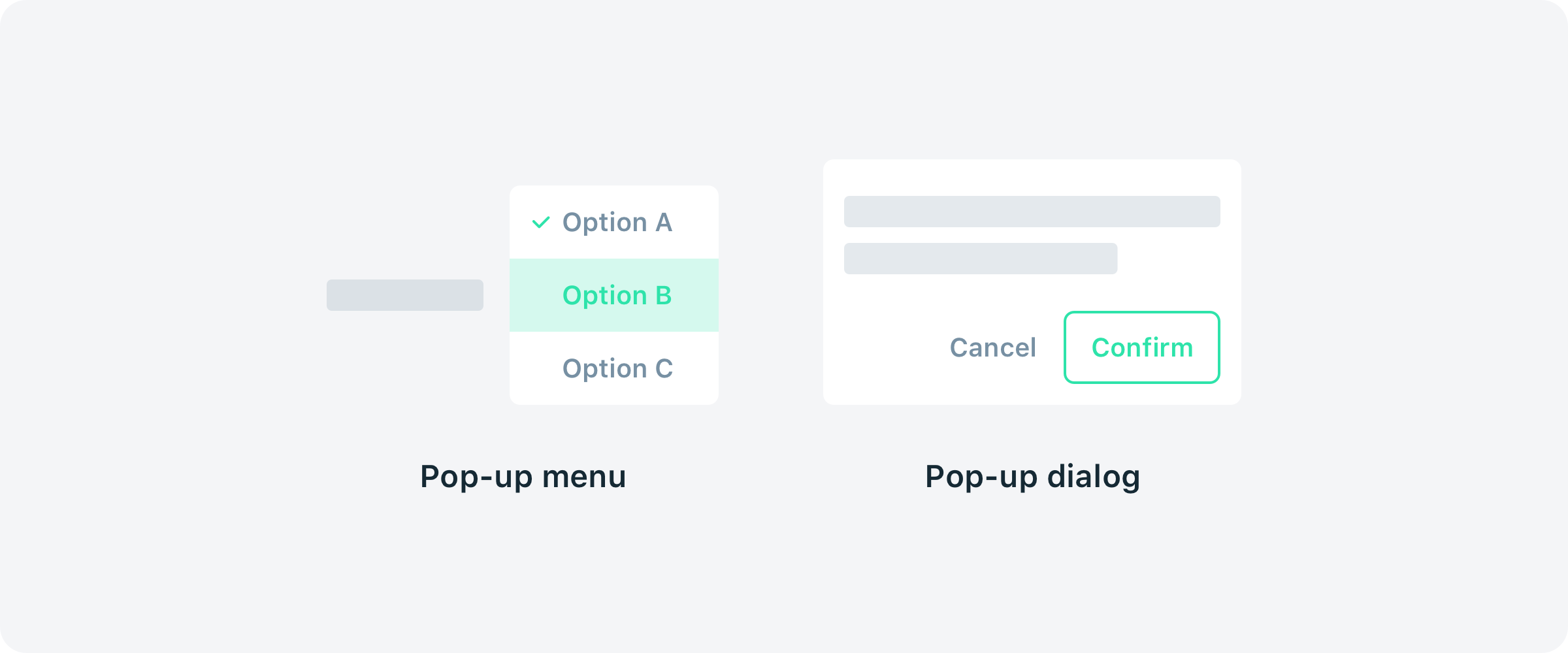 Pop Up Popover Or Popper A Quick Look Into Ui Terms By Shan Shen Ux Collective