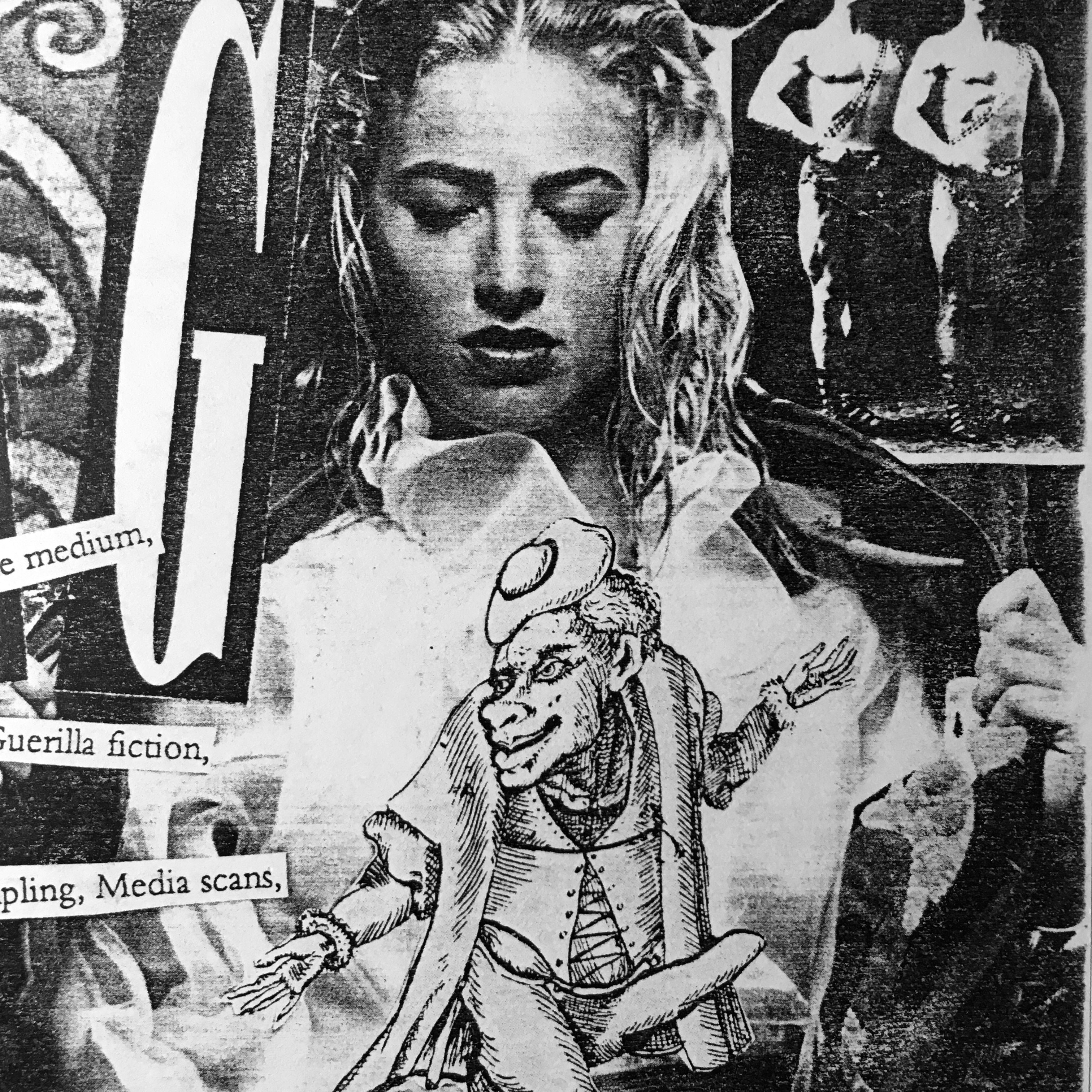 """Detail of early Plazm flyer, """"Drug megazine"""" by Donna Martin and Joshua Berger"""