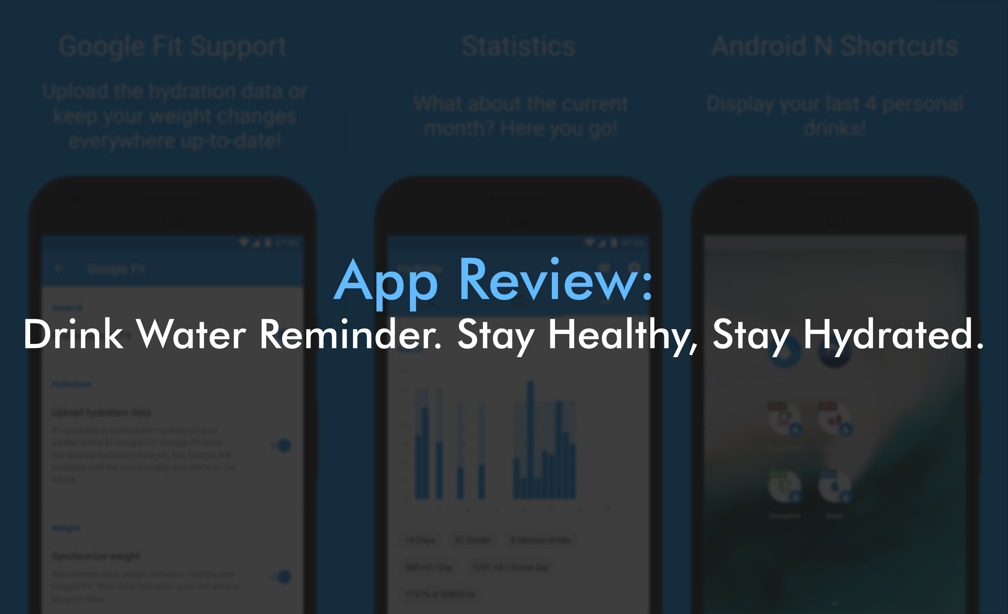 App Review: Drink Water Reminder  Stay Healthy, Stay Hydrated