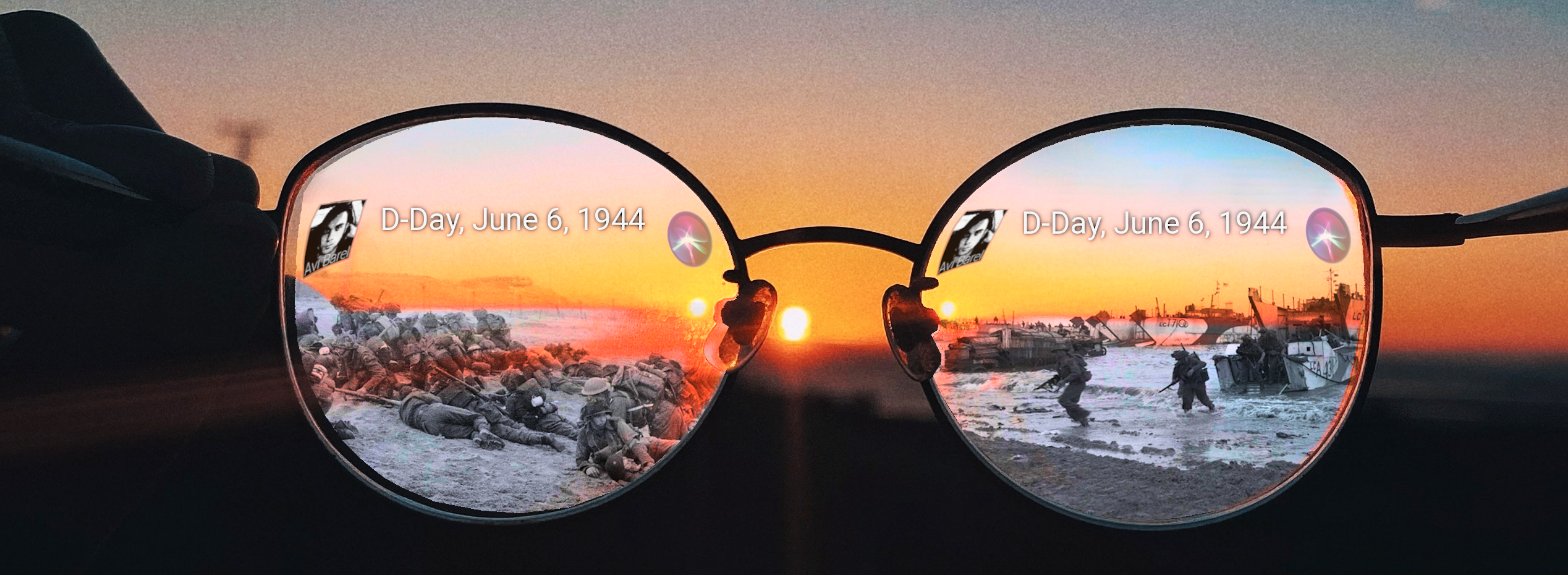 AR glasses with  location based historic events (D-Day, Normandy)