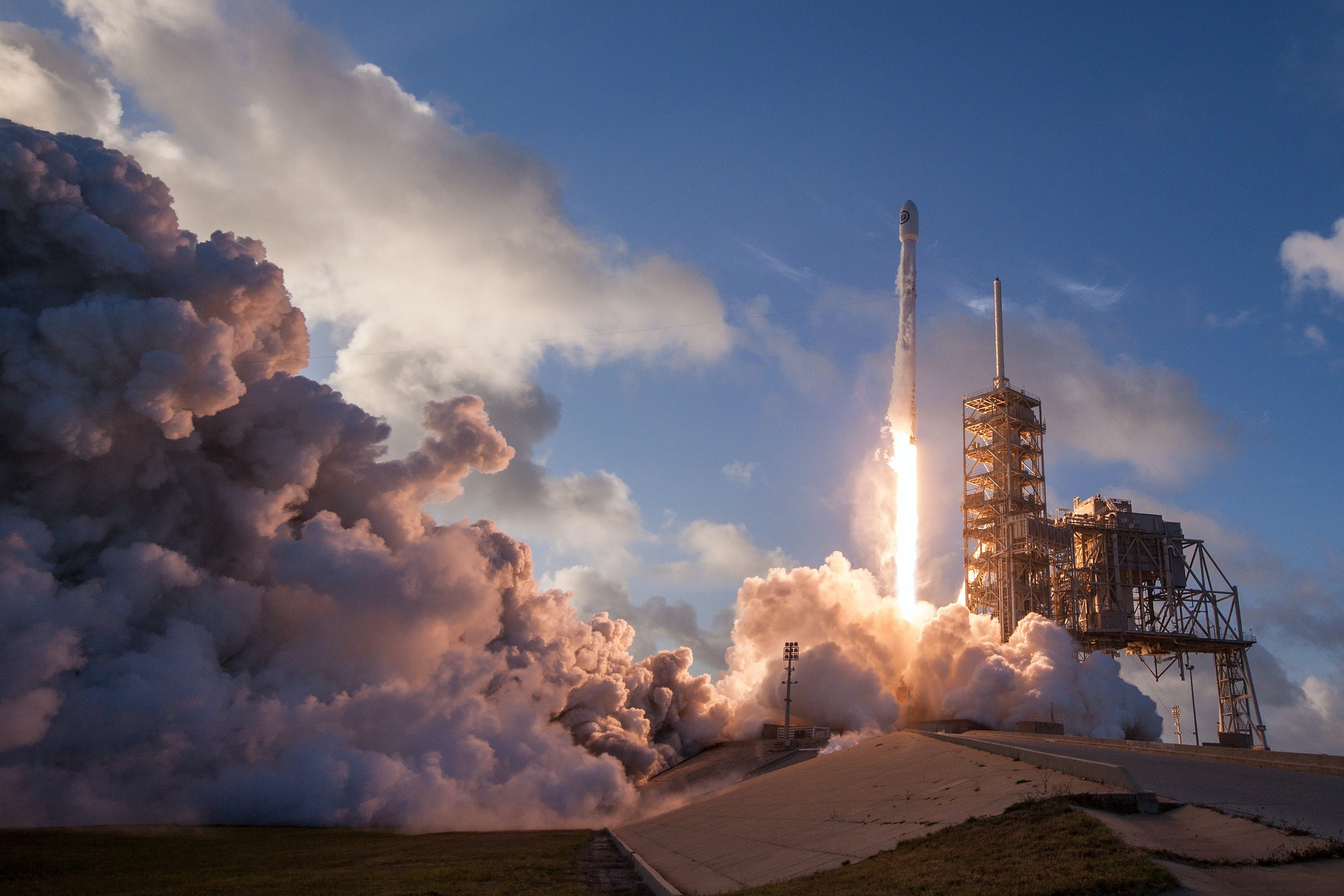 Rocket launching into space.