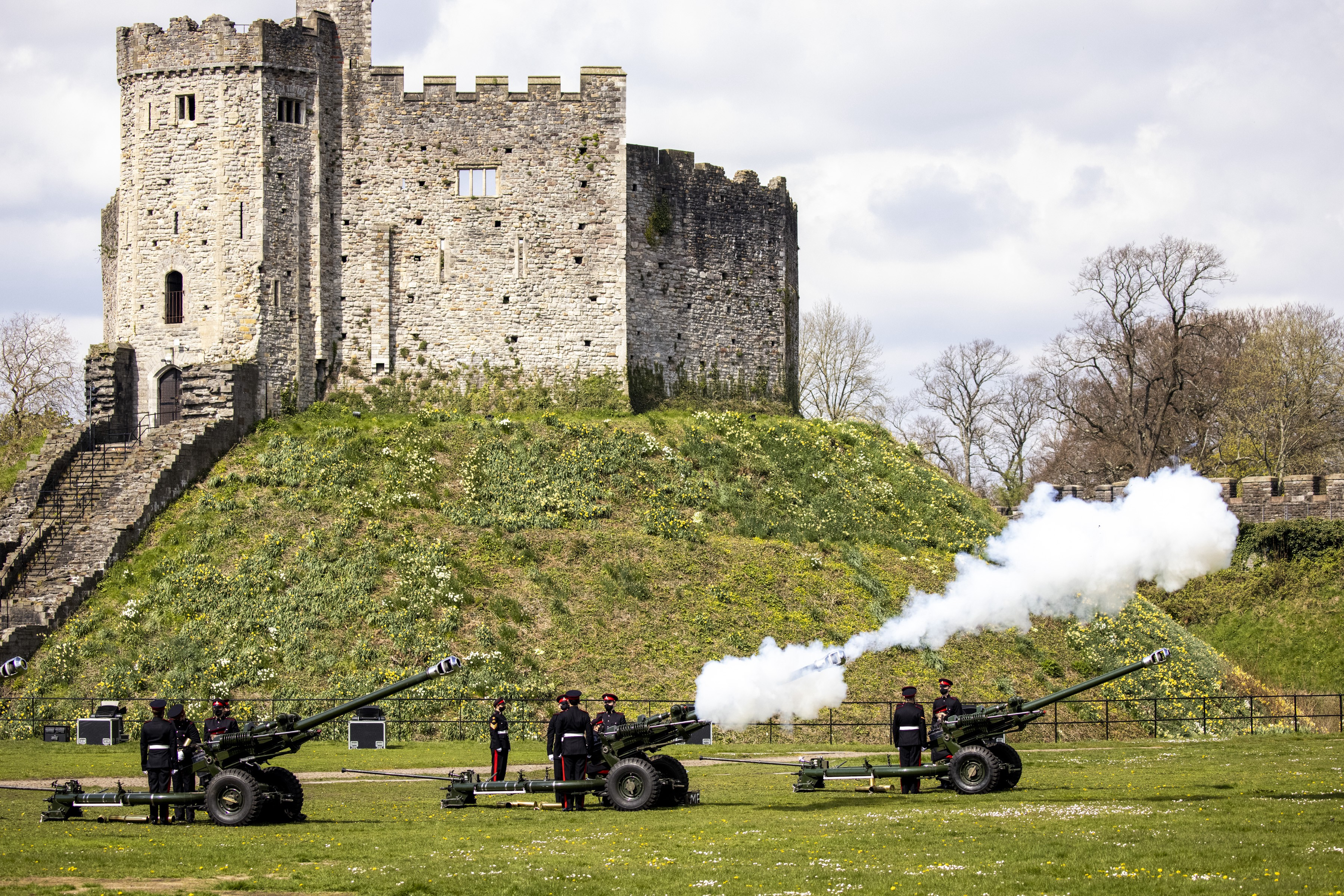 The Gun Salute at Cardiff Castle.