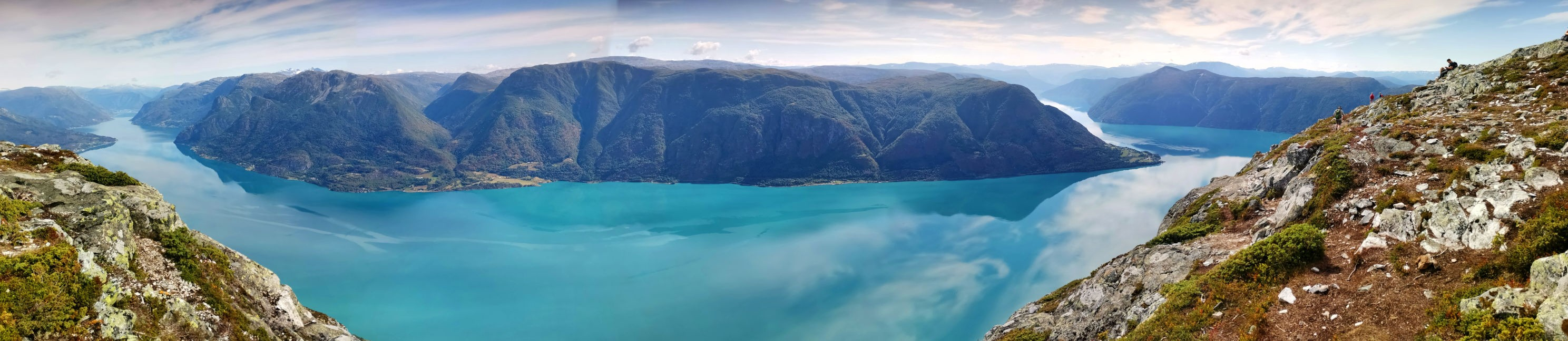 A View from Molden down to Lustrafjord