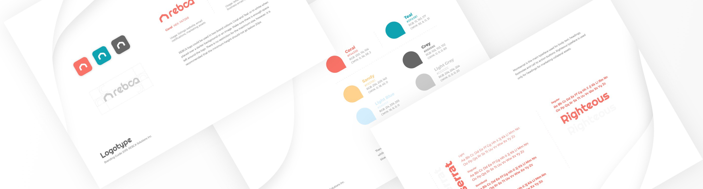 Header image with snippets from the branding guide
