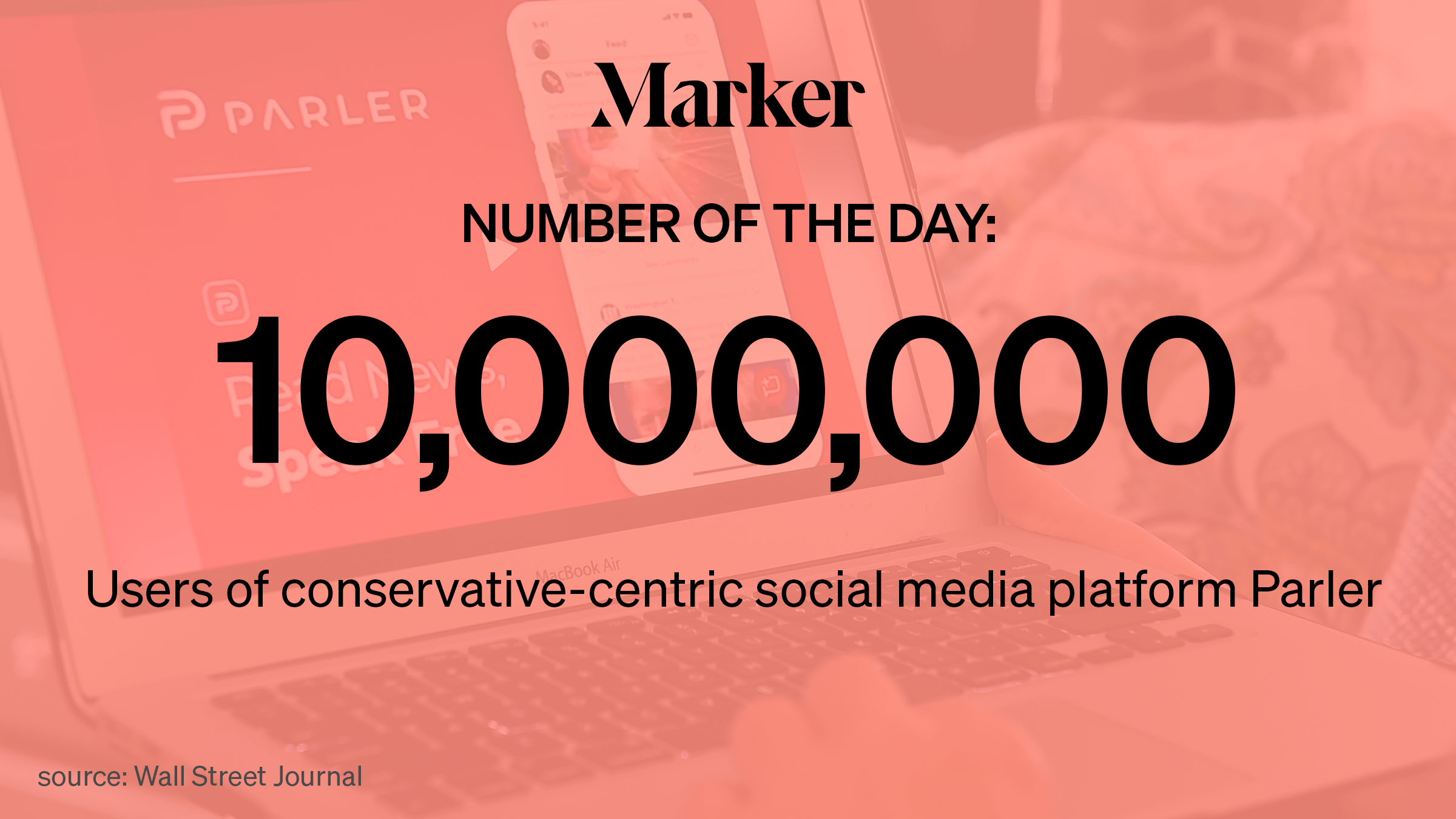 Parler The Social Network Popular With Conservatives Has Doubled Its Users In The Past Week Marker
