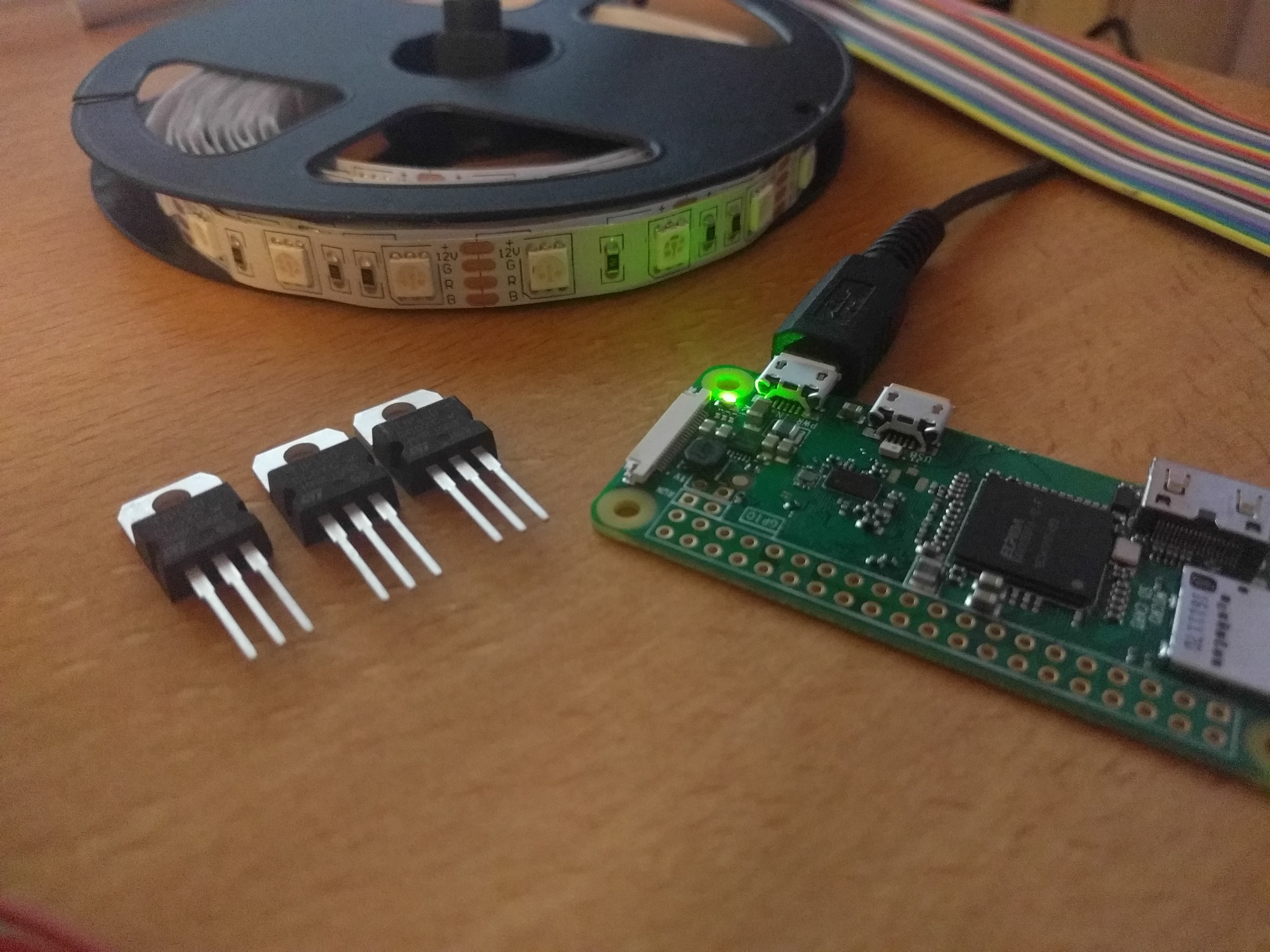 How to connect RGB Strip LED Lights to Raspberry Pi Zero W and