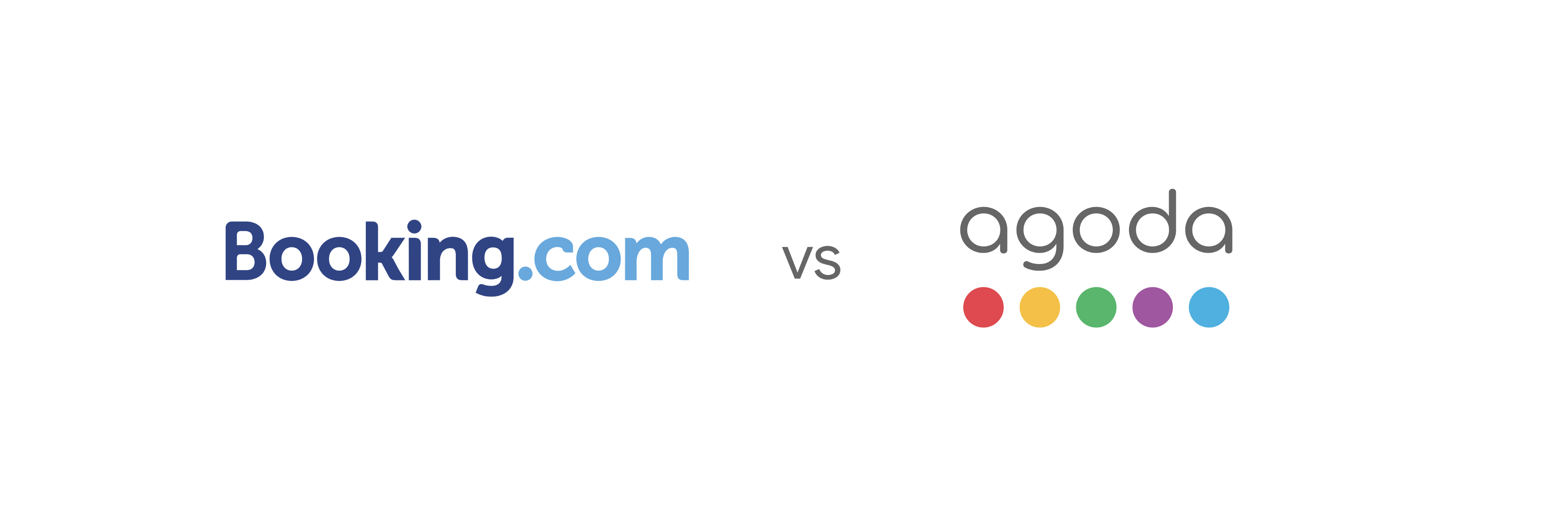 Booking and Agoda's Logos, side by side