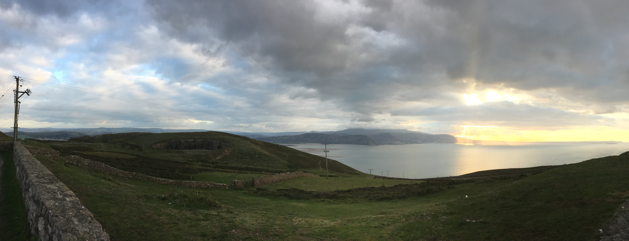 The view from Great Orme Head. Photo by author