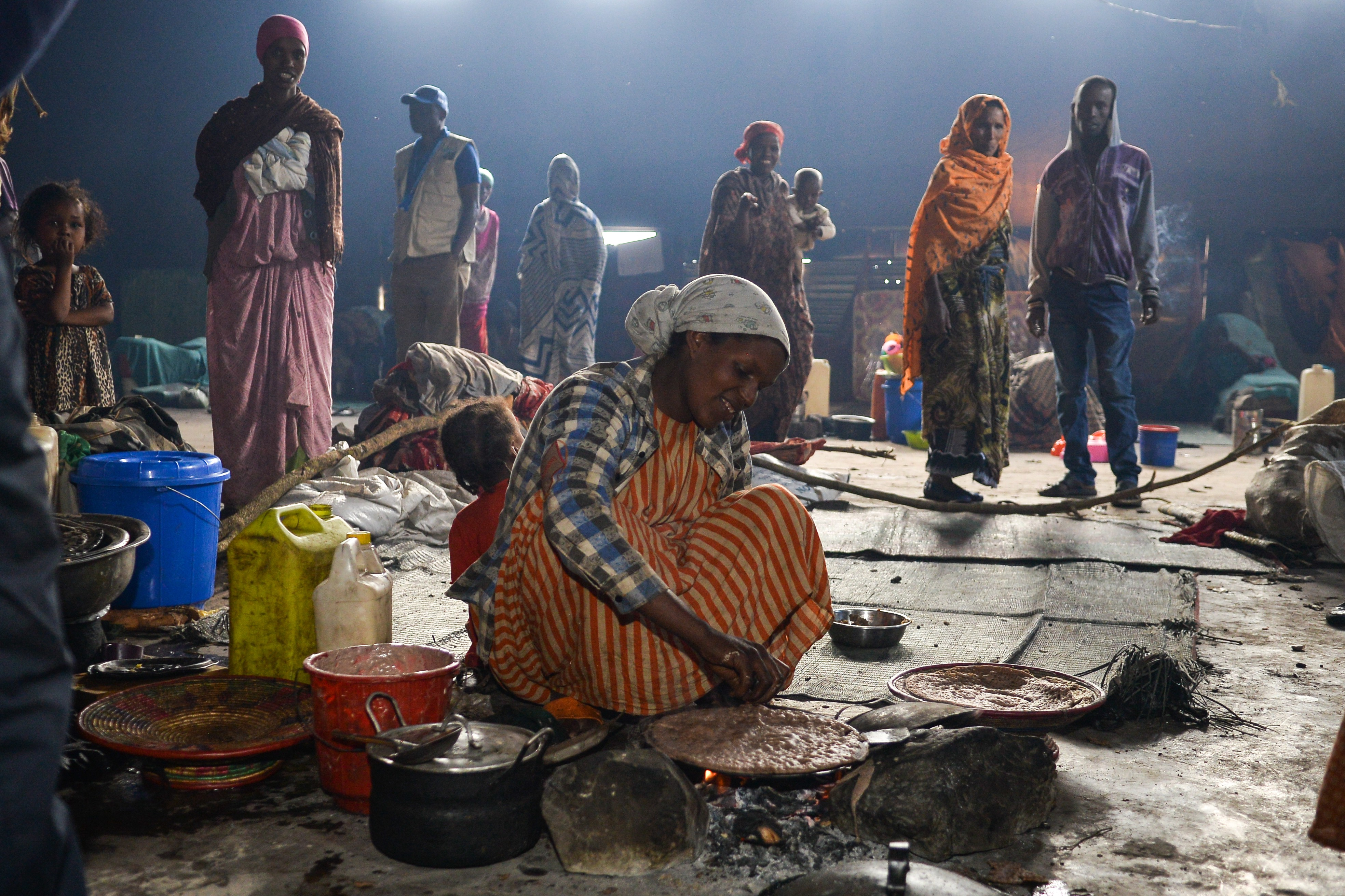 Food proves a lifeline to those fleeing conflict in Ethiopia