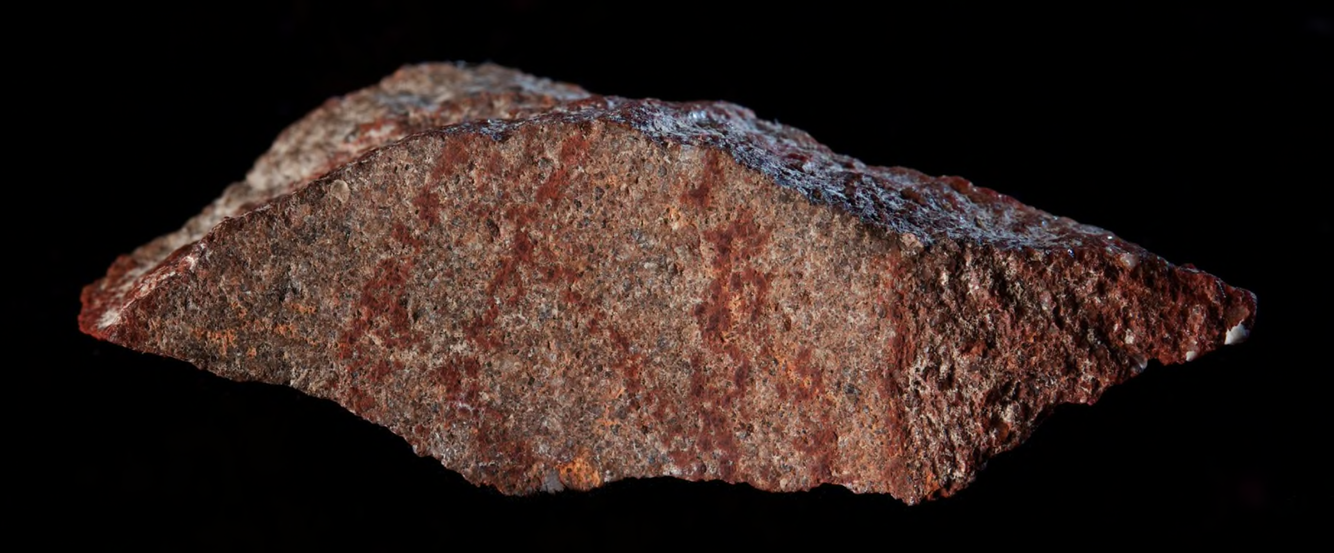 Line drawing with ochre pencil on stone, dating back 73,000 years