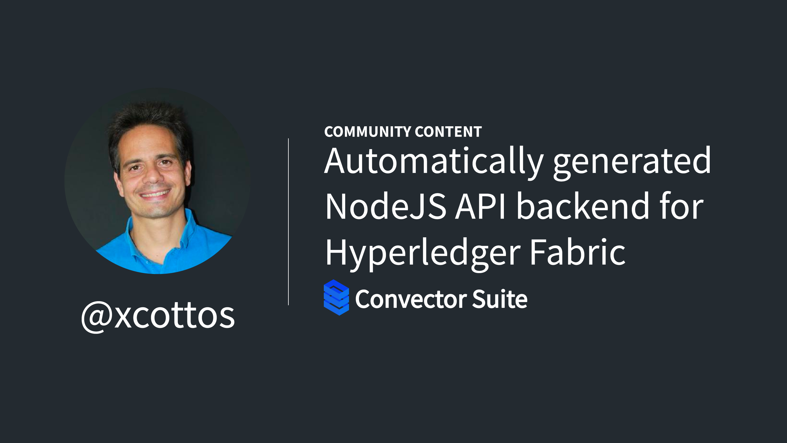 How to generate automatically a NodeJS API backend for Hyperledger