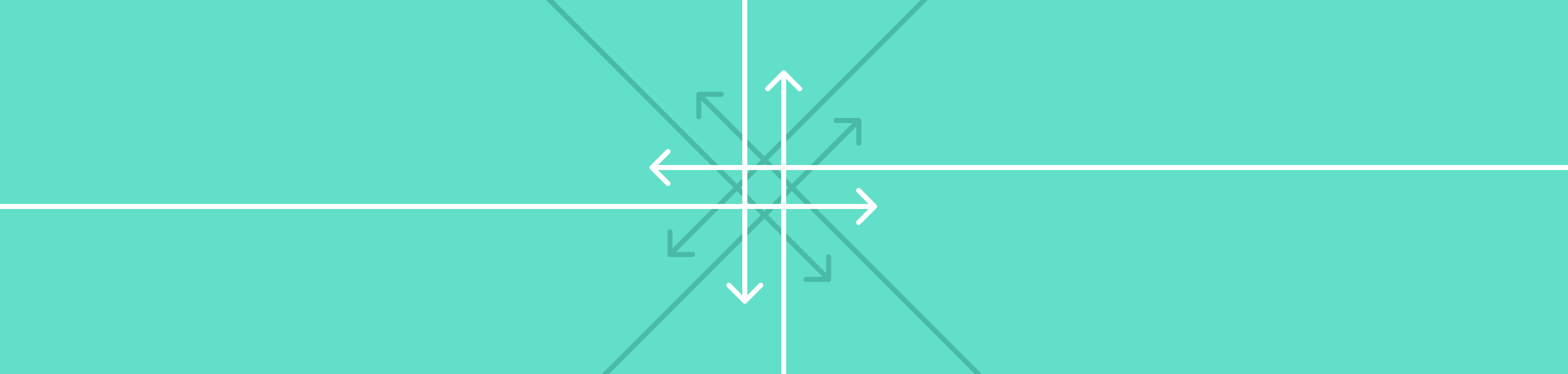 eight arrow lines, from different directions crossing over in the centre