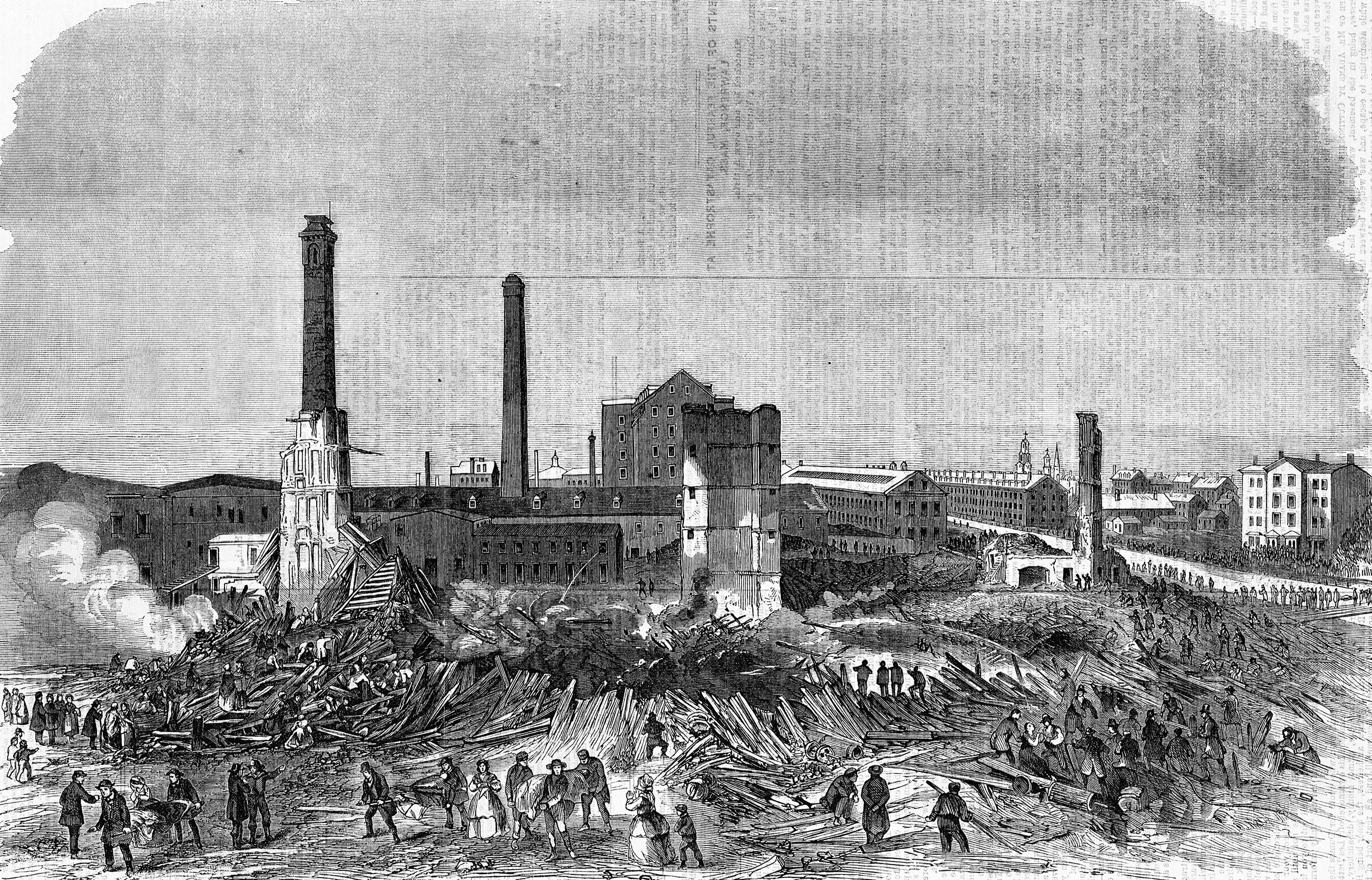 This tragic mill collapse killed mostly women, after industrialists