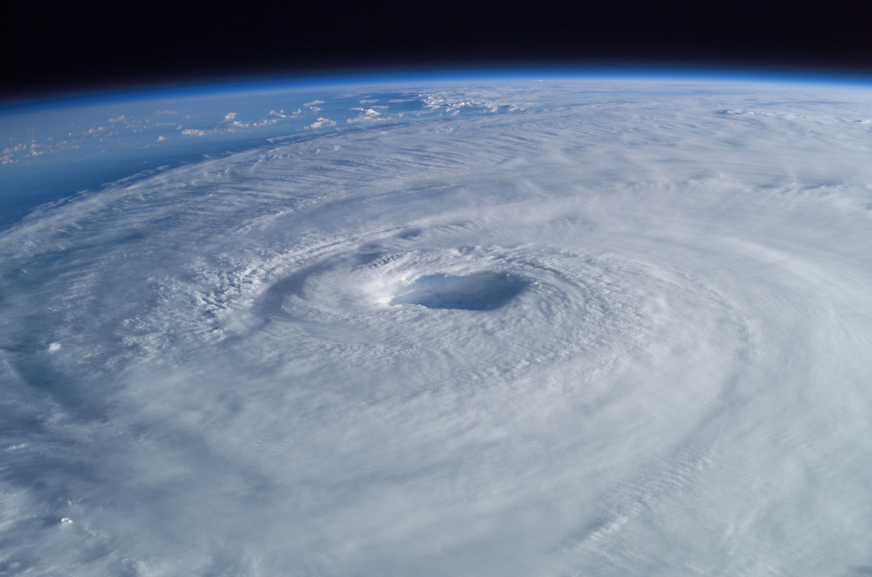 Hurricane Isabel as seen from the International Space Station.