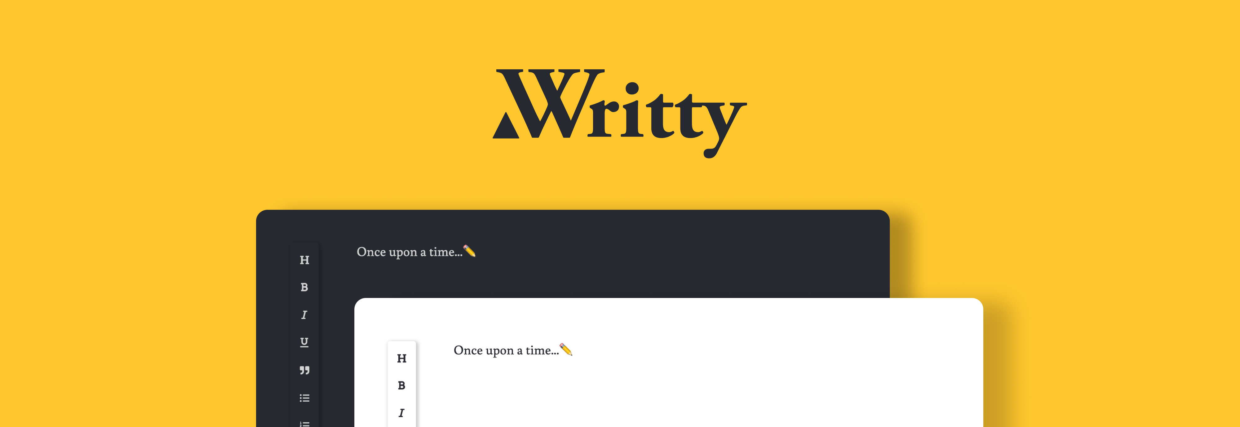 Writty, a minimalist writing app.