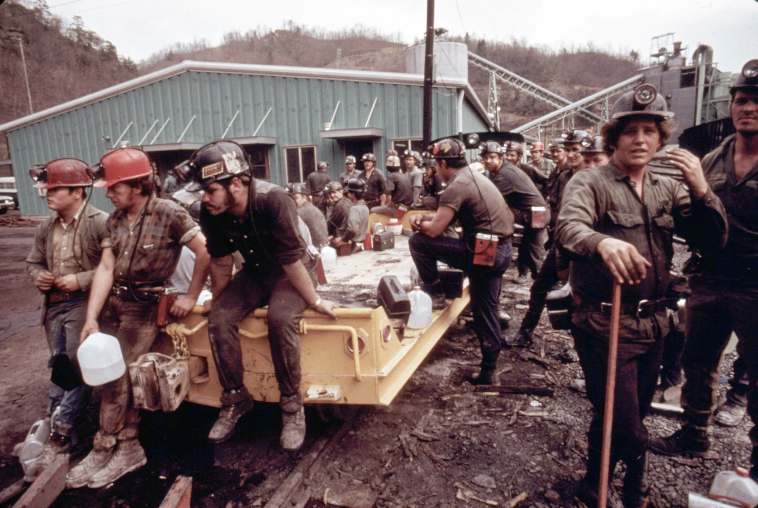 The deep imagery of coal mining in the 1970s shows a lifestyle of