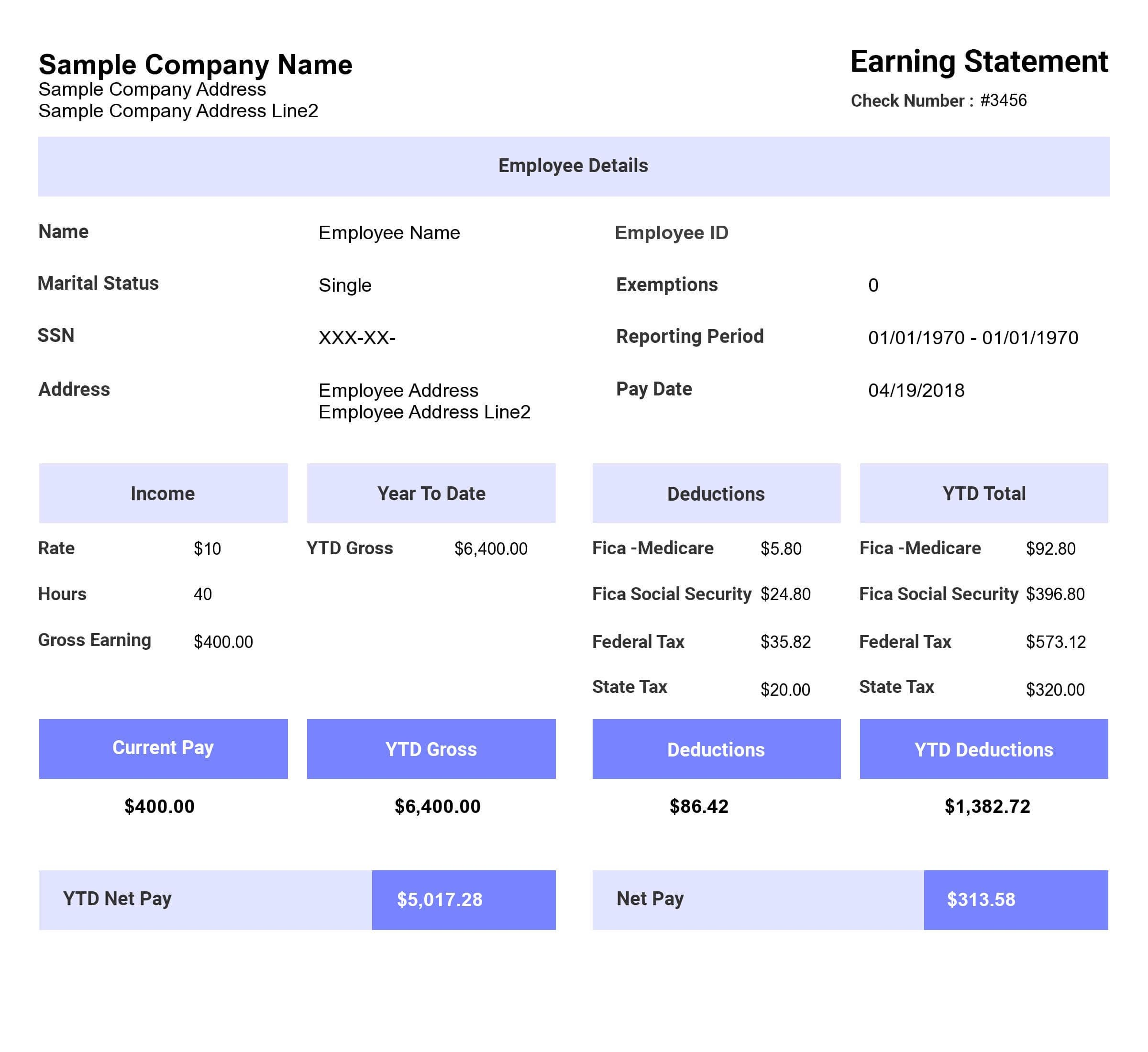 How To Use Free Paycheck Stub Templates By Stub Creator Medium