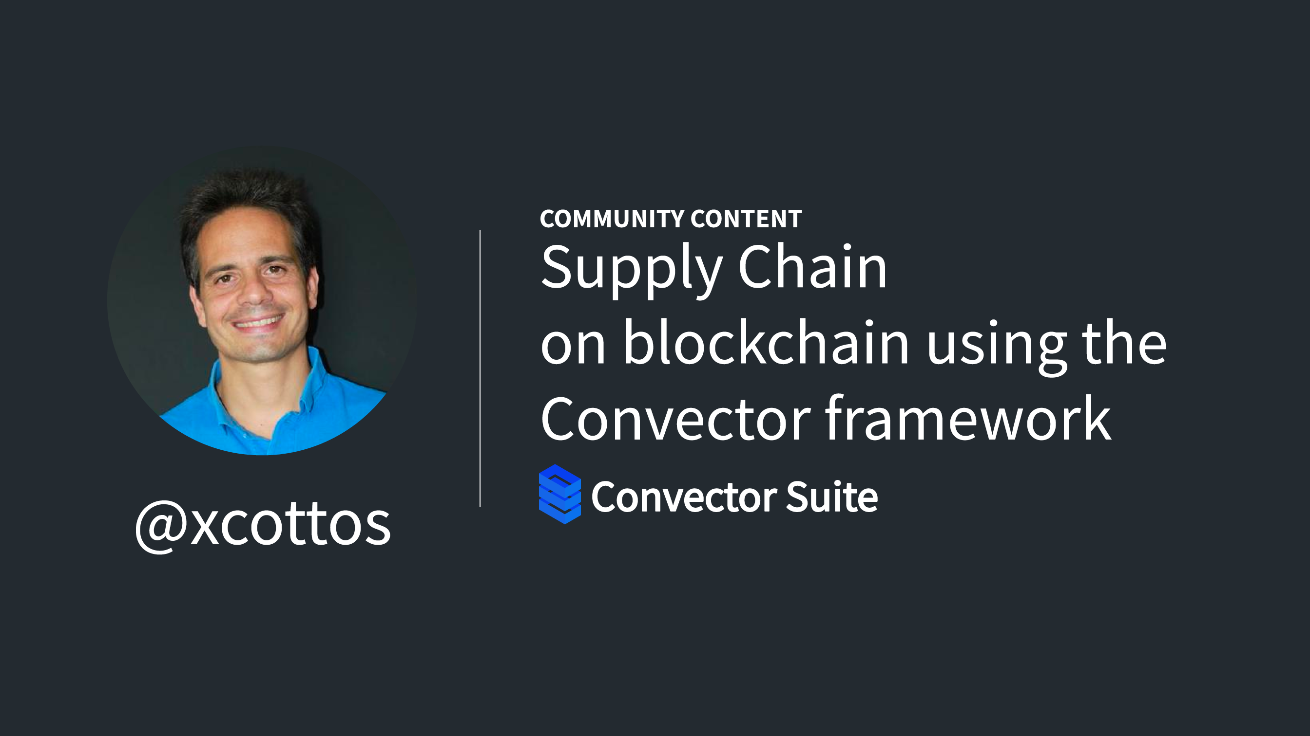 Supply Chain on blockchain using the Convector framework