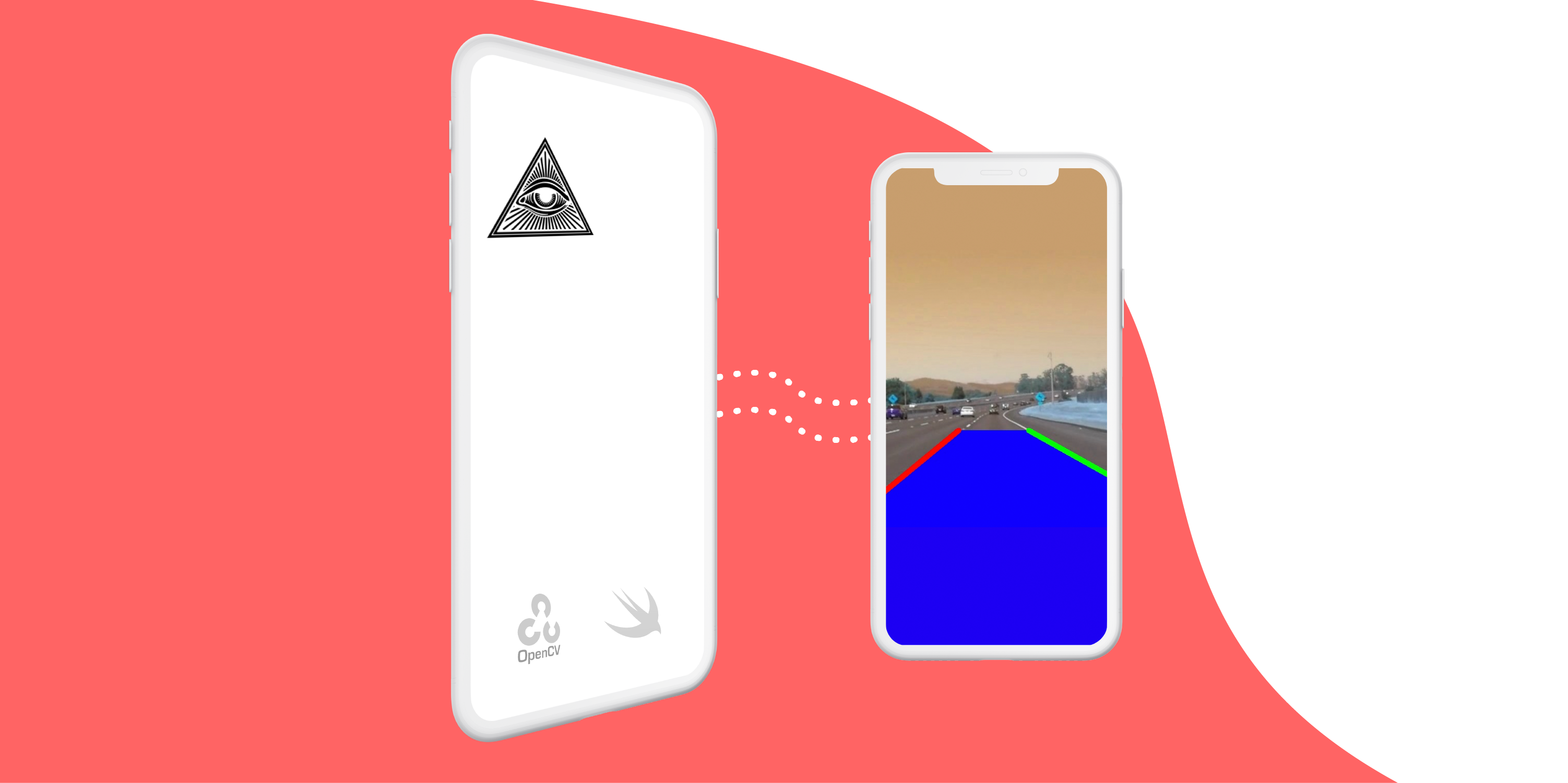 Building a simple lane detection iOS app using OpenCV