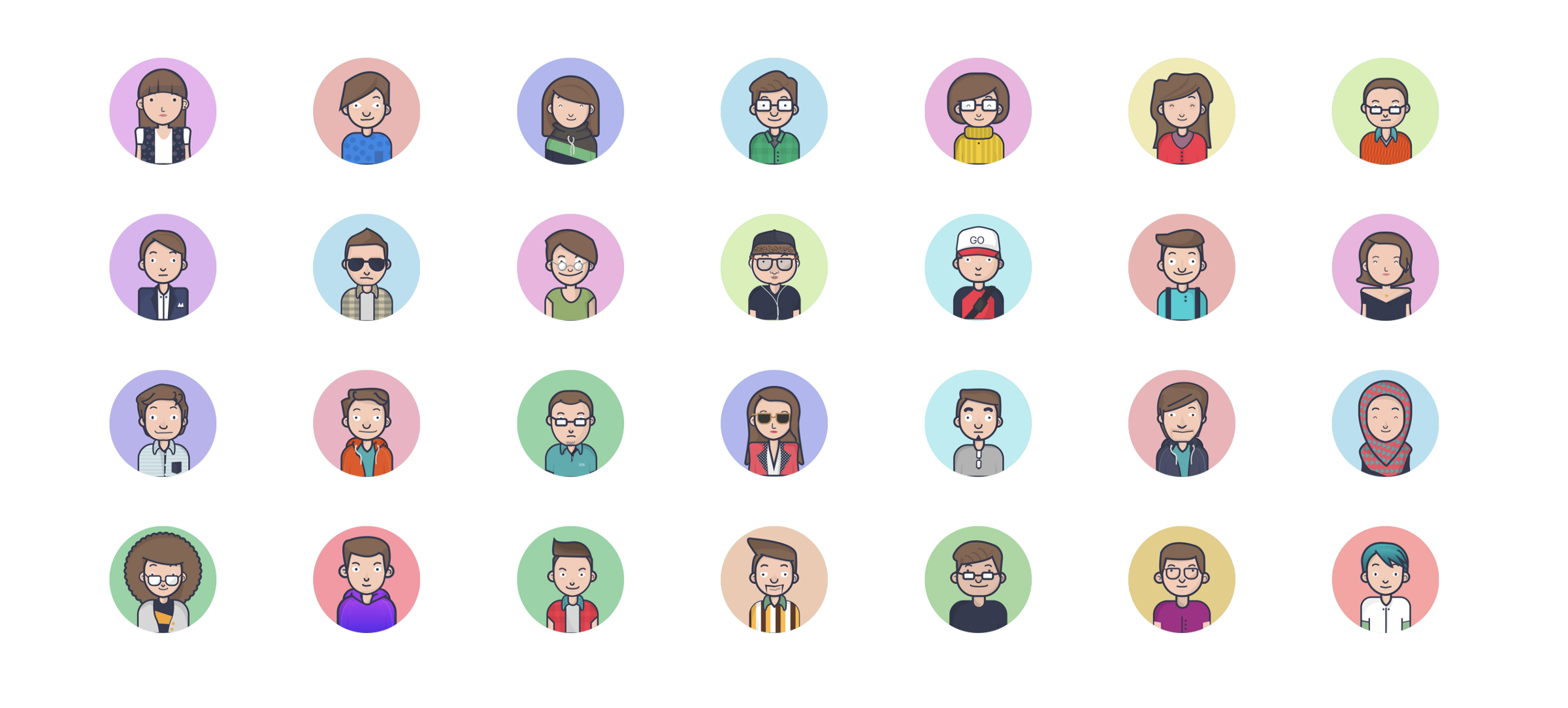 Cool avatars for you, made with love and totally free