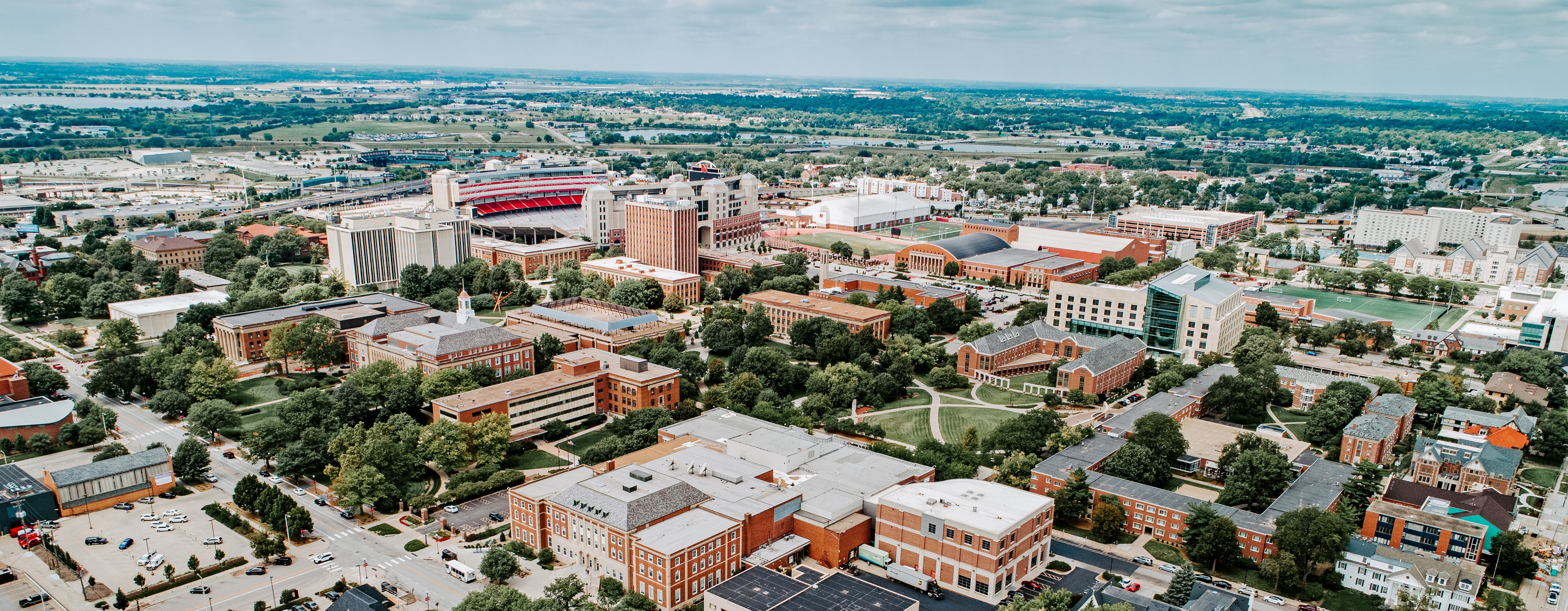 An aerial photo of Nebraska's City Campus