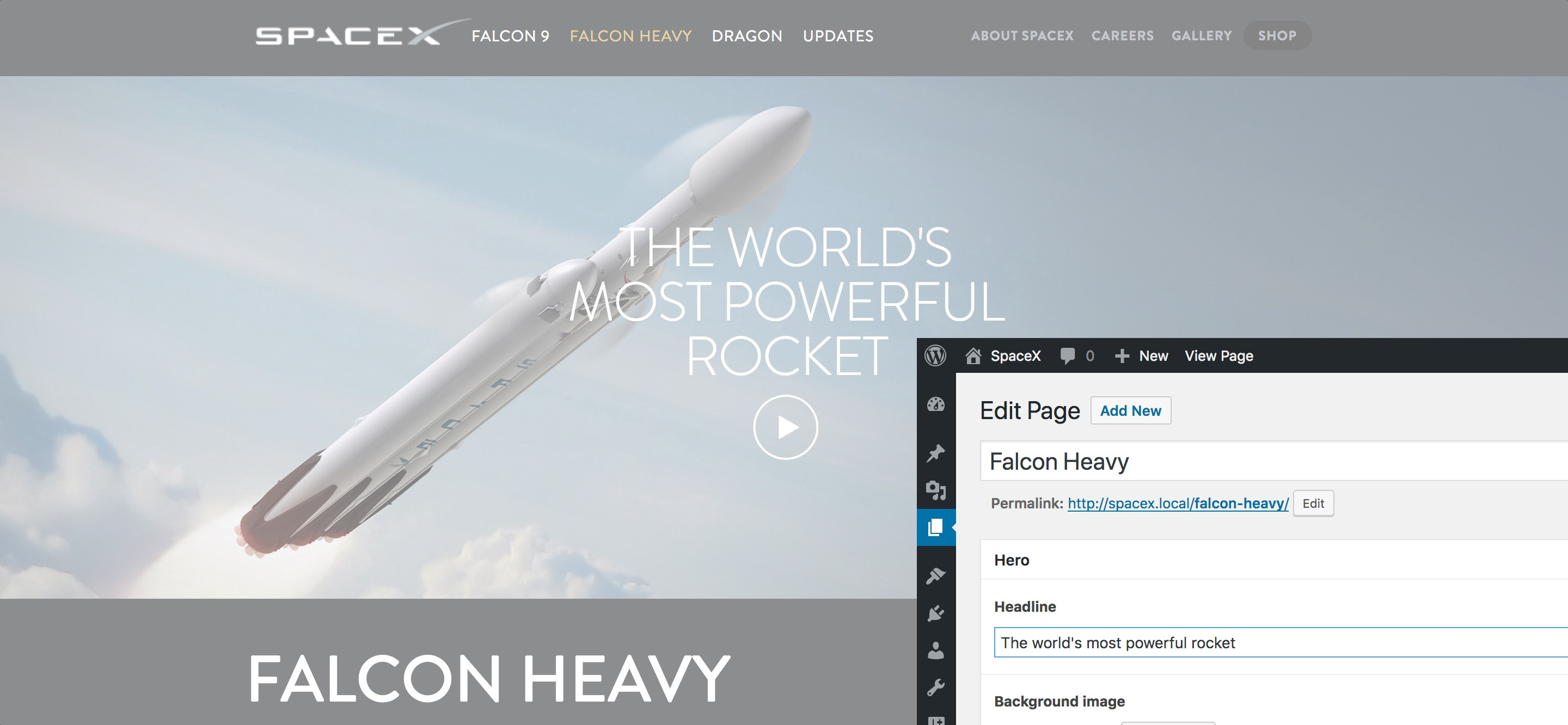 Making a backend for SpaceX with WordPress and ACF 🚀