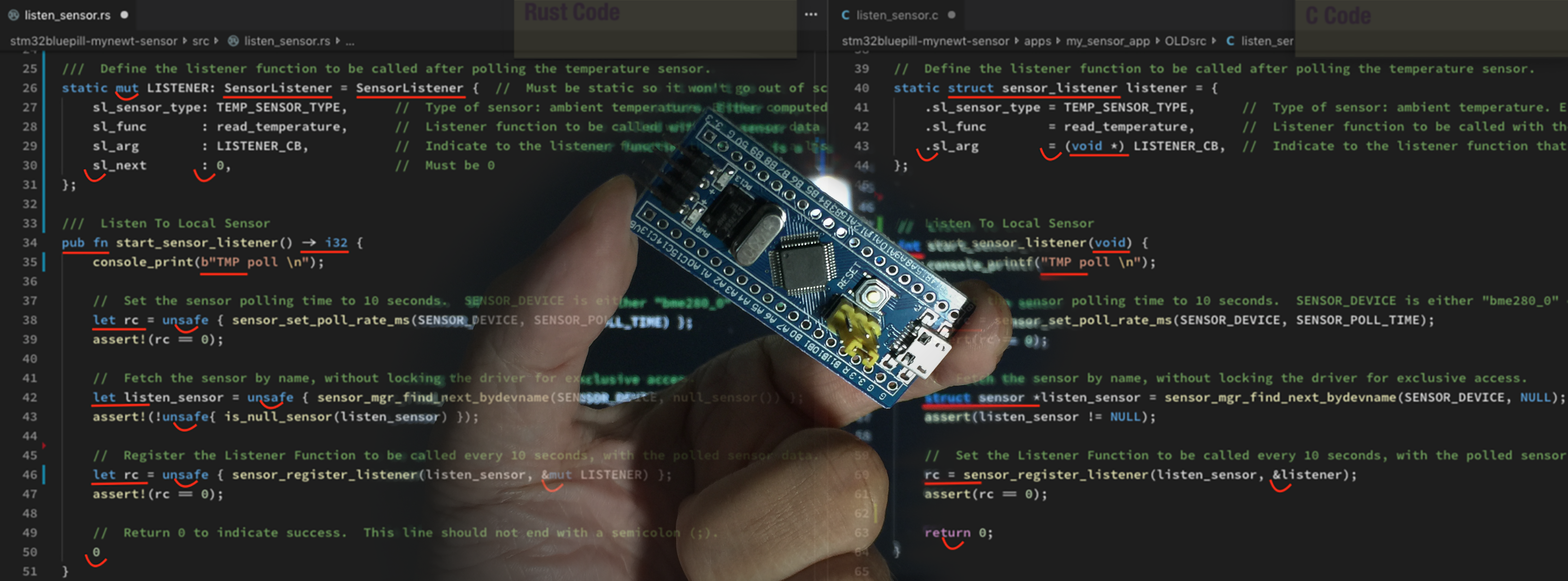 Hosting Embedded Rust apps on Apache Mynewt with STM32 Blue Pill