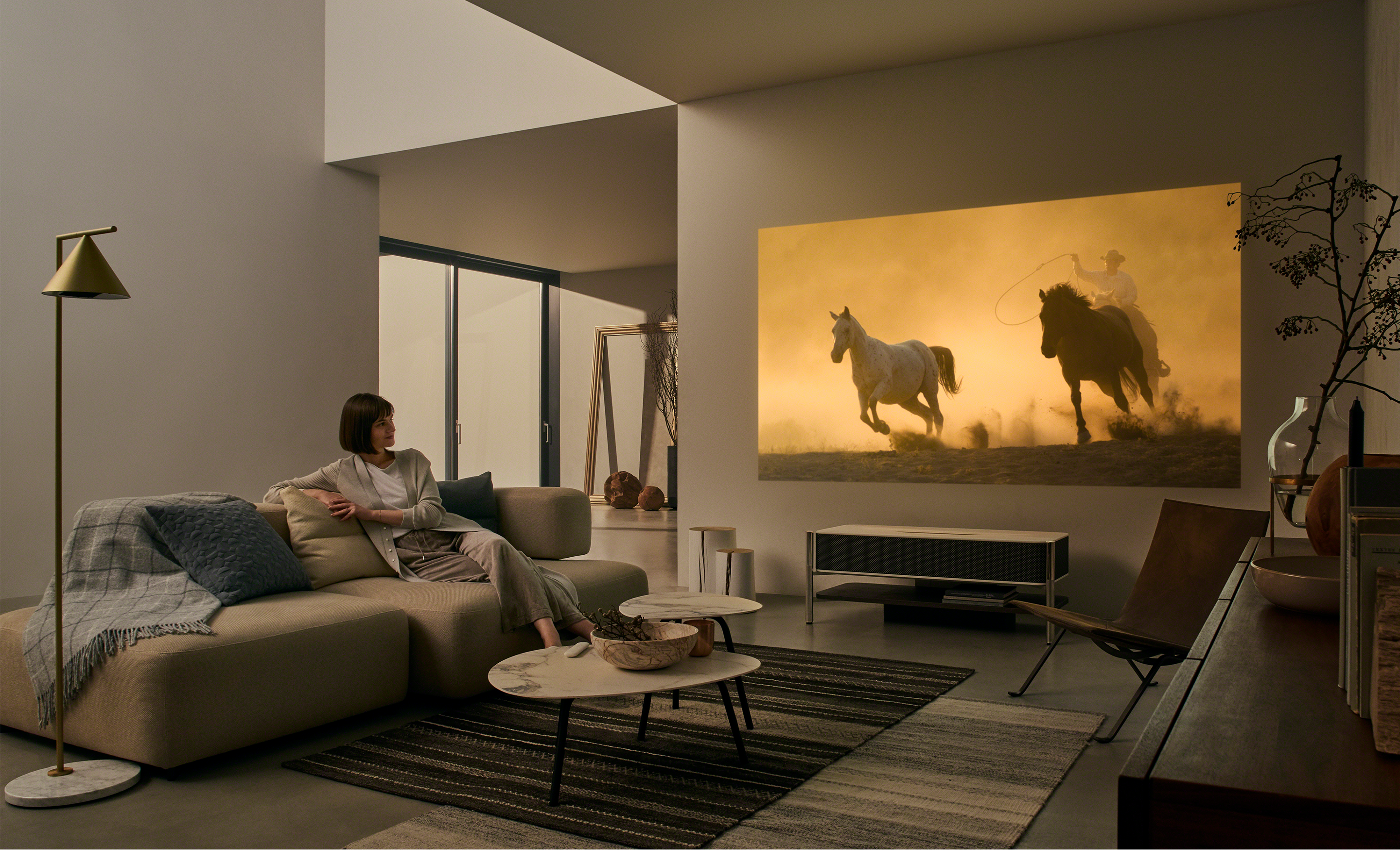 Sony Turns Their 4k Ultra Short Throw Projector Into High End Furniture