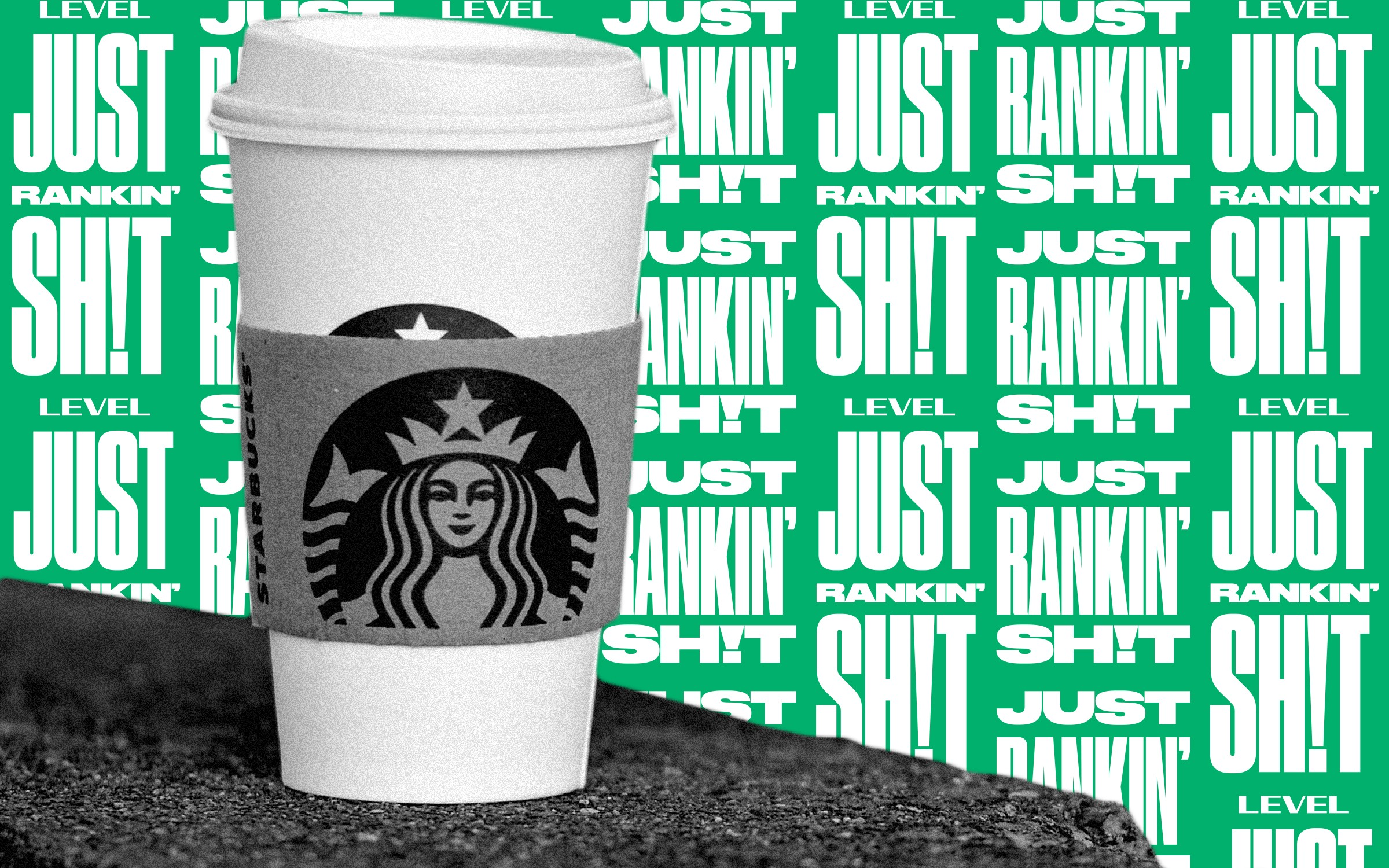 A to-go cup of Starbucks