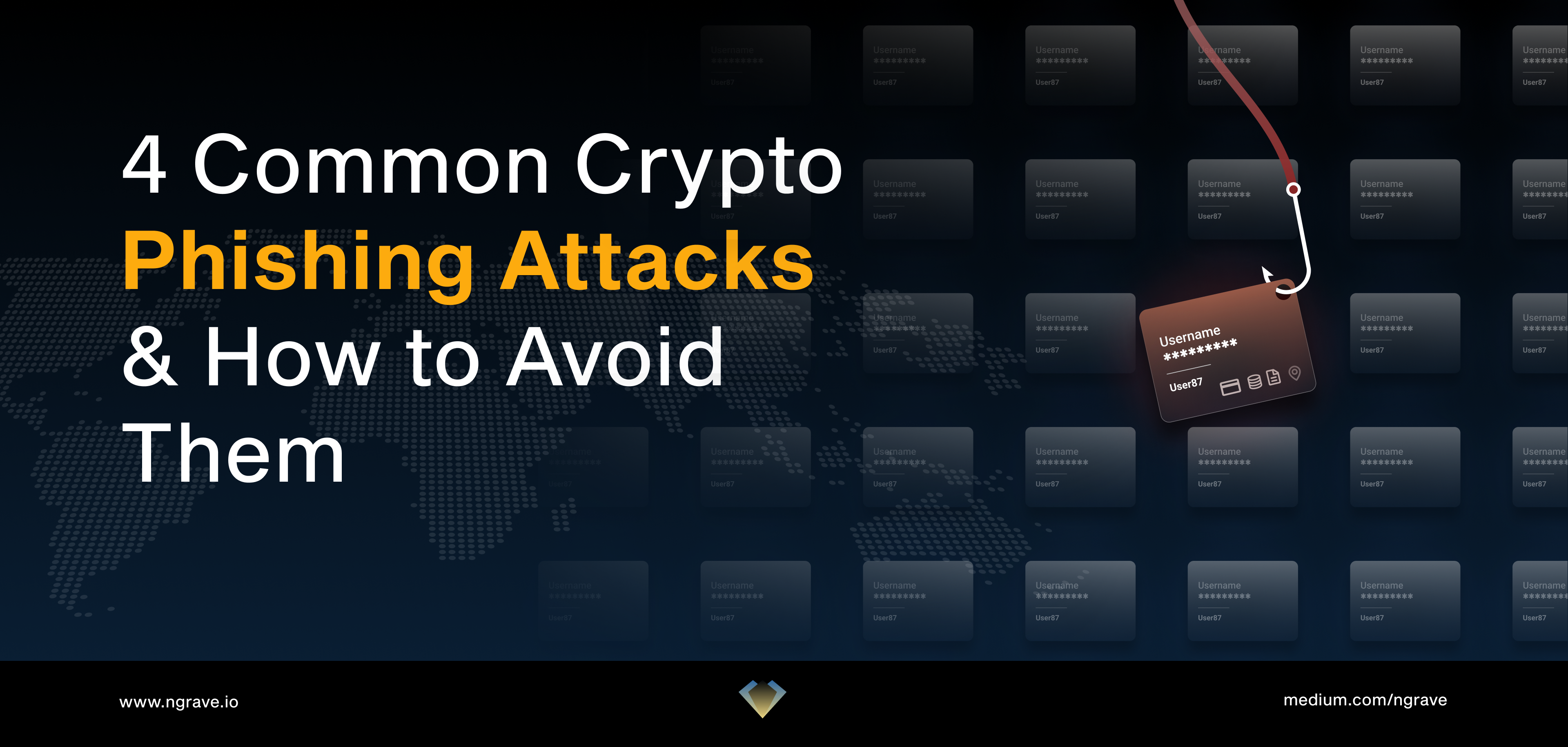 4 common crypto phishing attacks and how to avoid them: what are spear phishing, DNS hacking, phishing bots, and fake browser extensions, and how can you avoid being a victim.