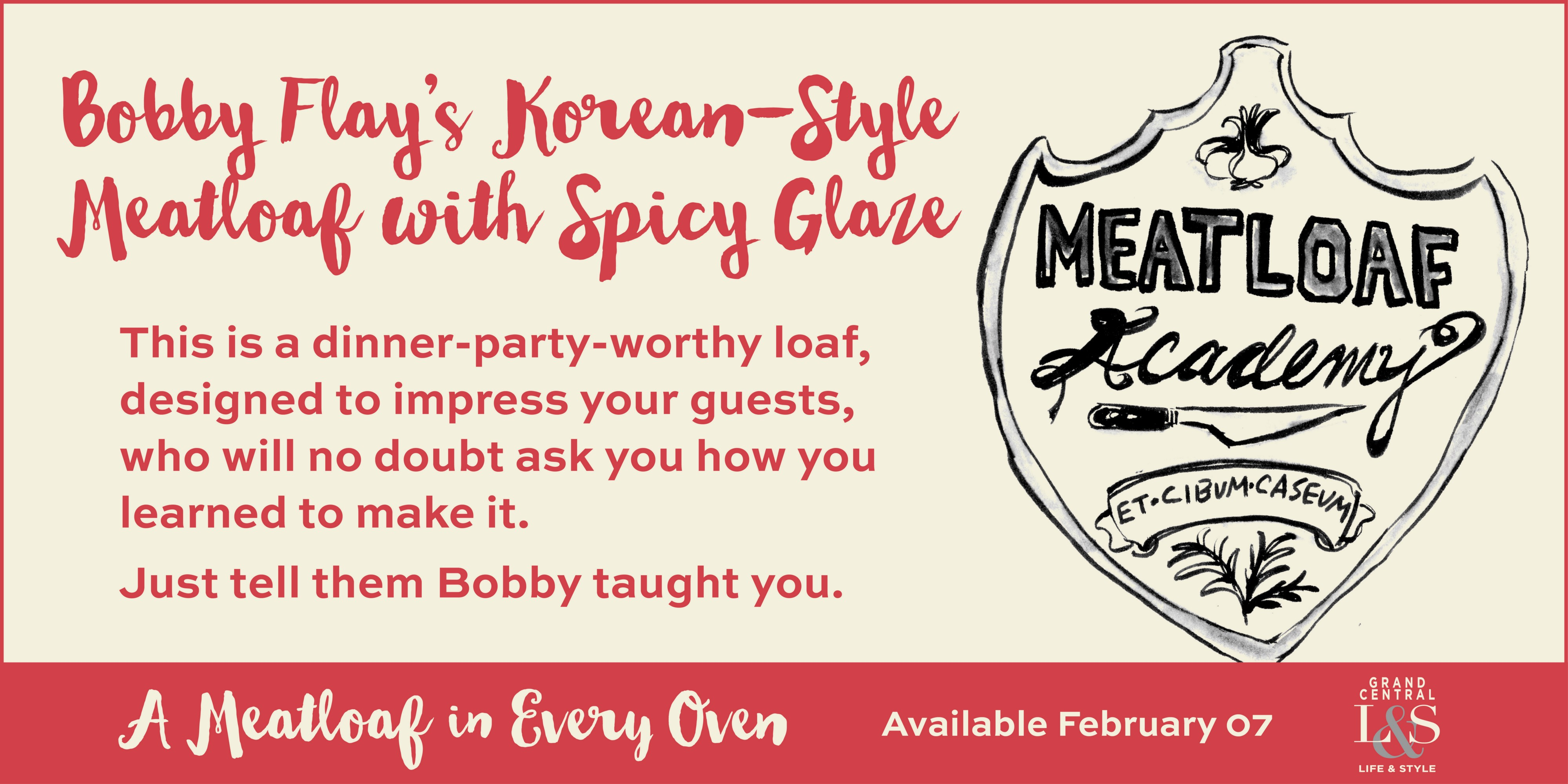 Bobby Flay's Korean-Style Meatloaf with Spicy Glaze (Serves 8)