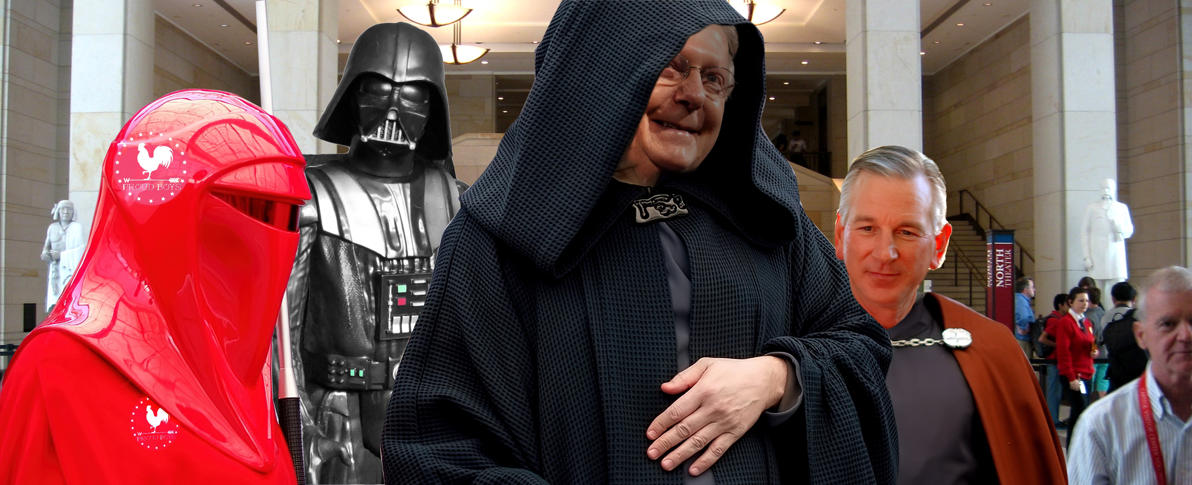 Mitch McConnell and Tommy Tuberville as Sith Lords