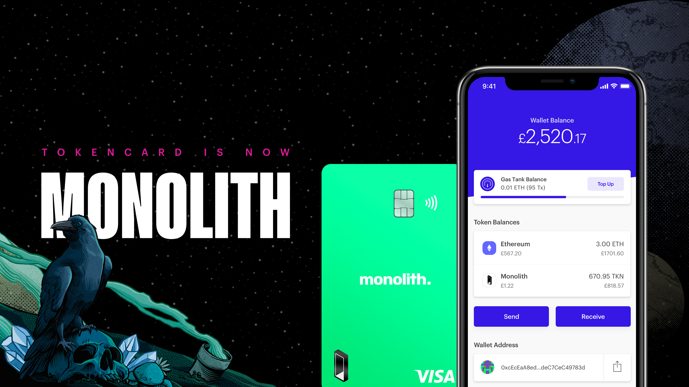 TokenCard is now Monolith—featuring the Monolith Visa Card and the app