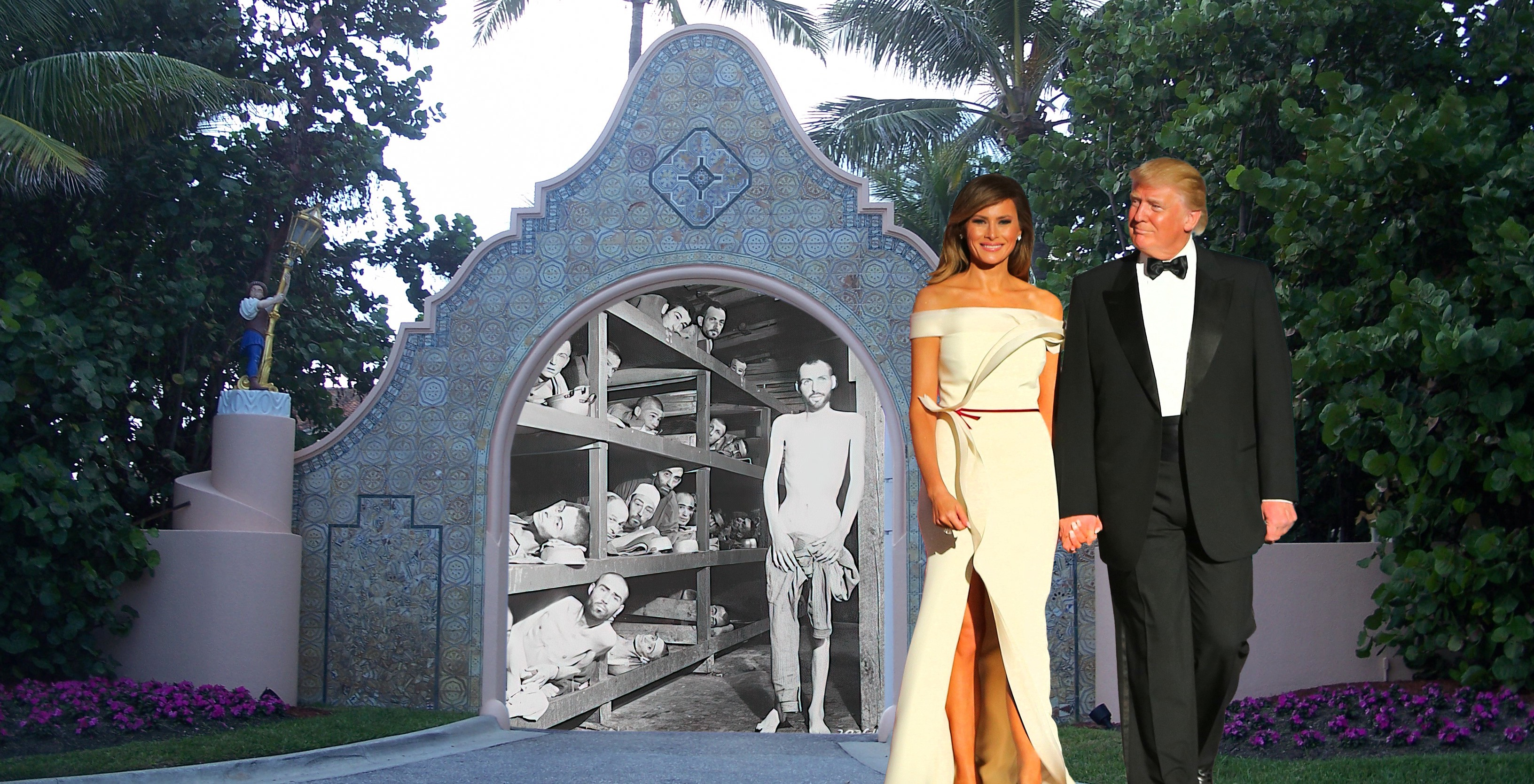 Trump and Melania show off their concentration camp