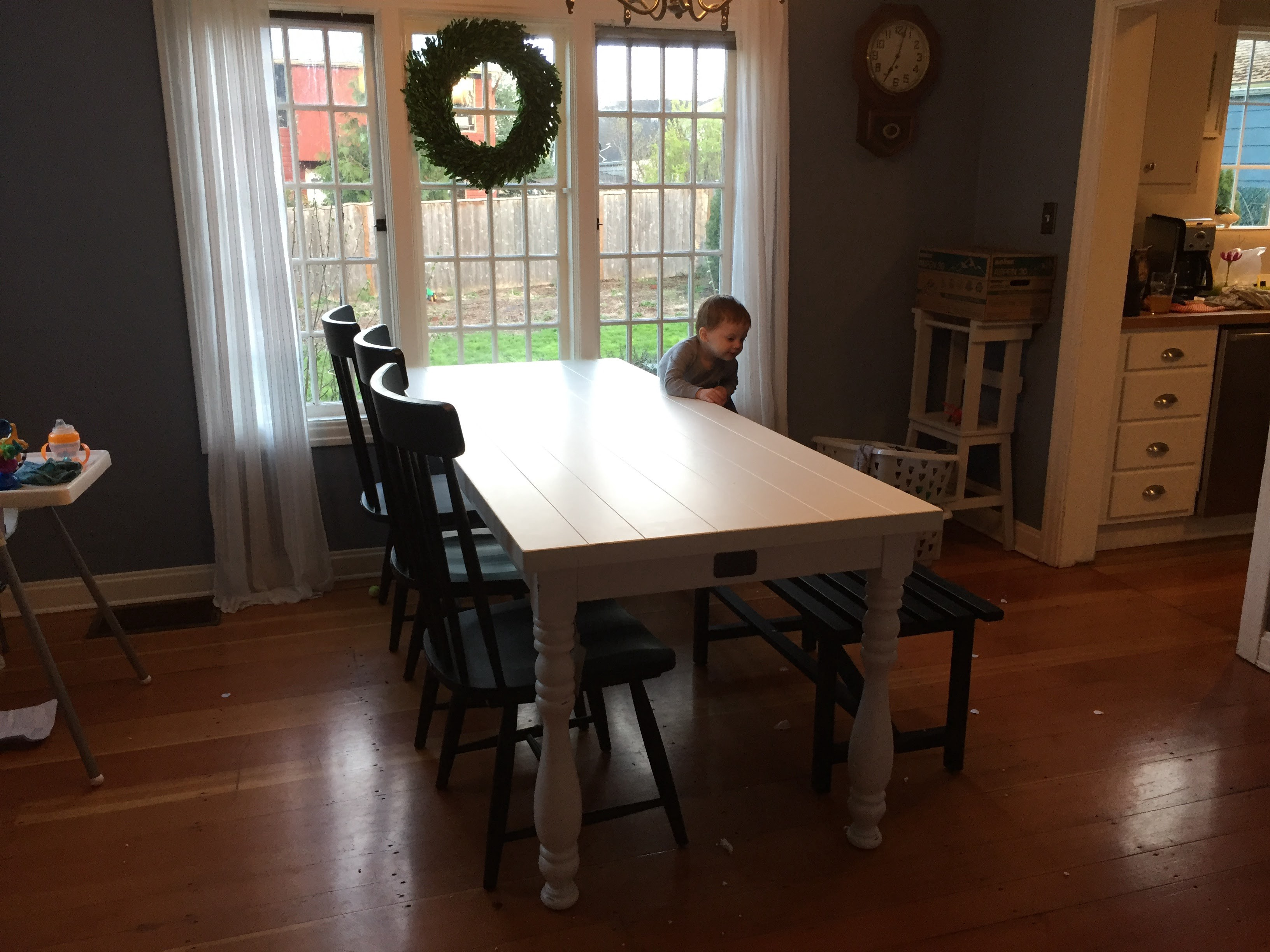 I Am Writing This Review In Secret Because My Wife Is Super Excited About Our New Farmhouse Table And Chairs Don T Want To Rain On Her Parade
