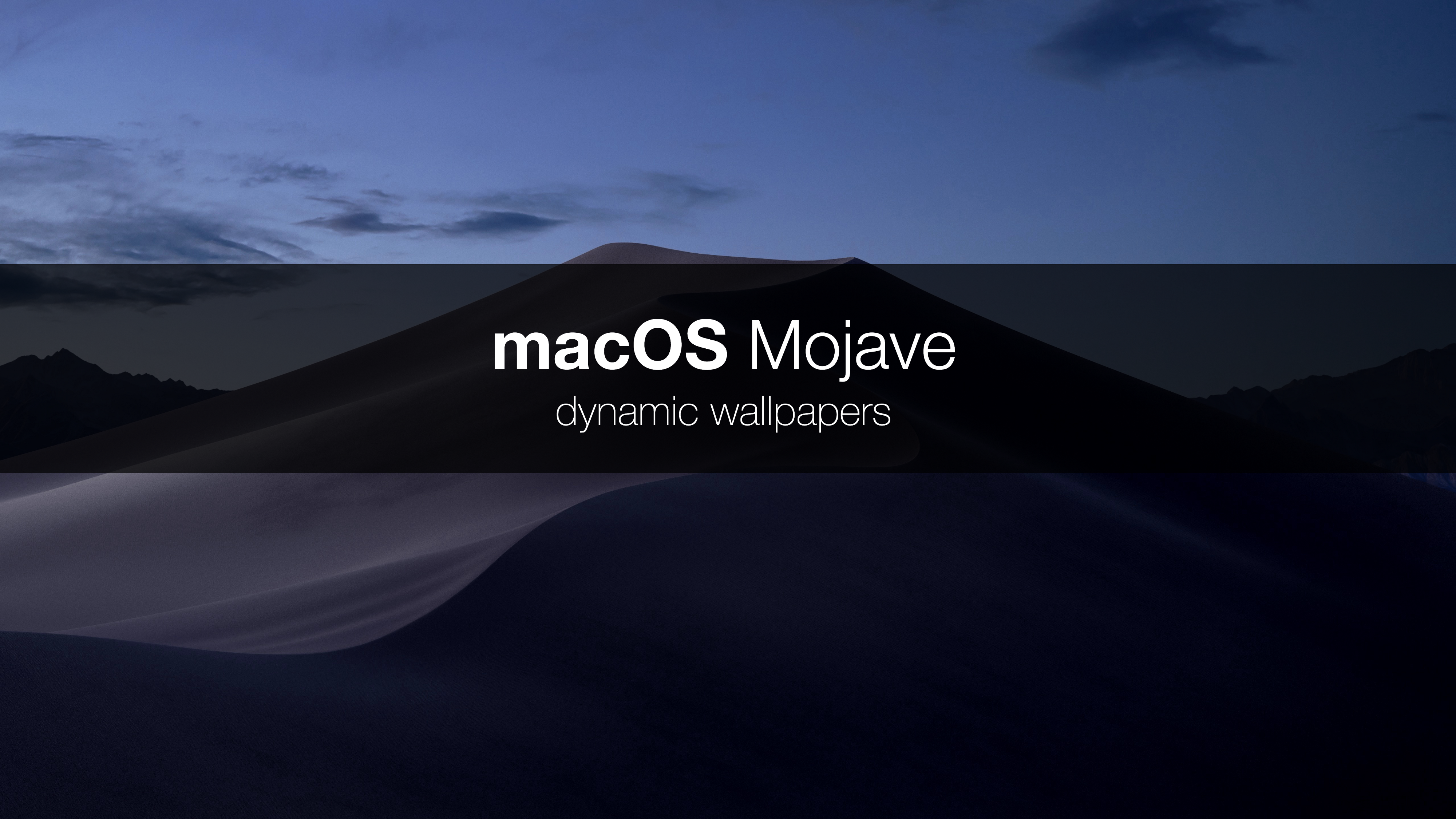 macOS Mojave dynamic wallpaper - ITNEXT