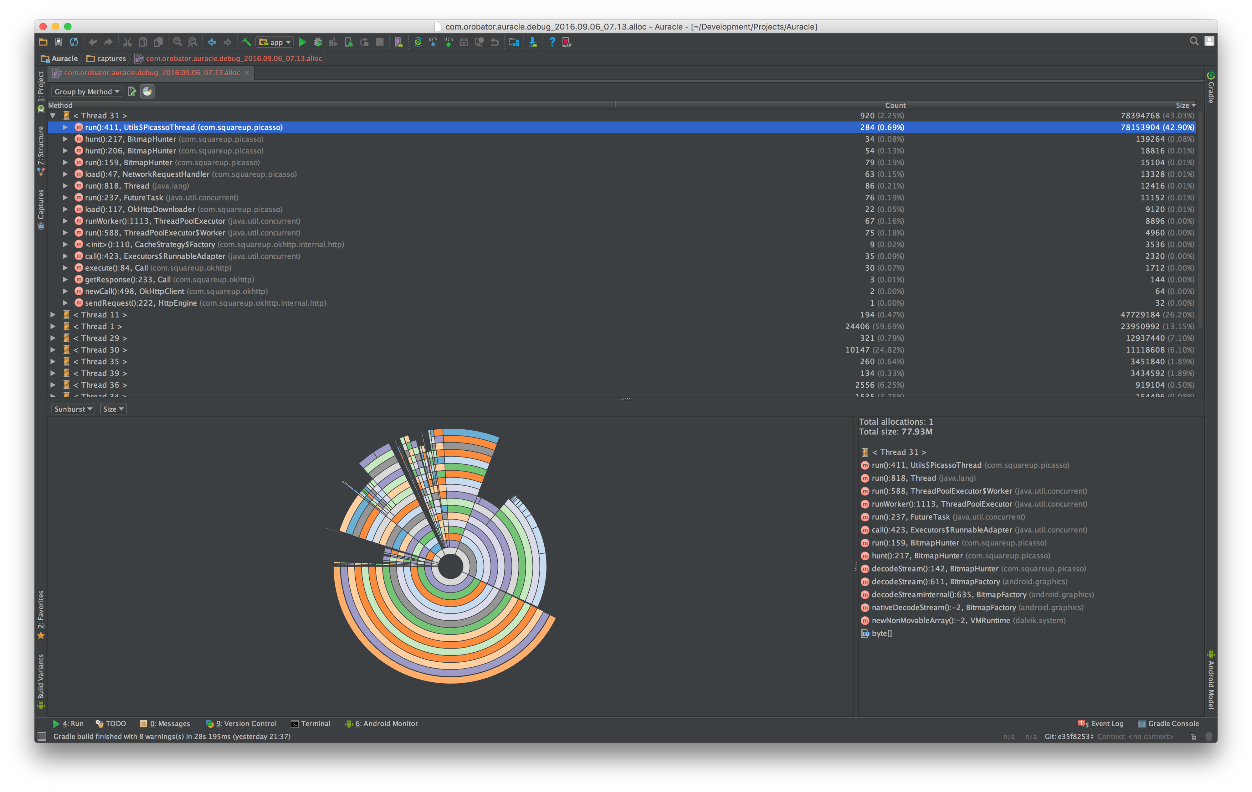 Debugging without a stacktrace: Using Android Studio's Performance