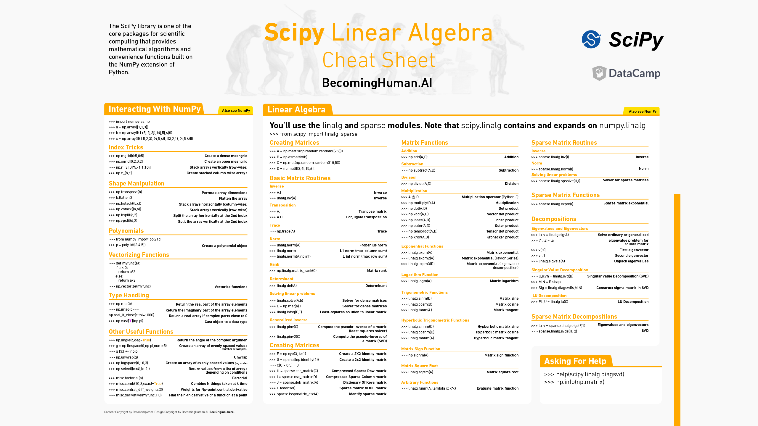 Downloadable: Cheat Sheets for AI, Neural Networks, Machine Learning