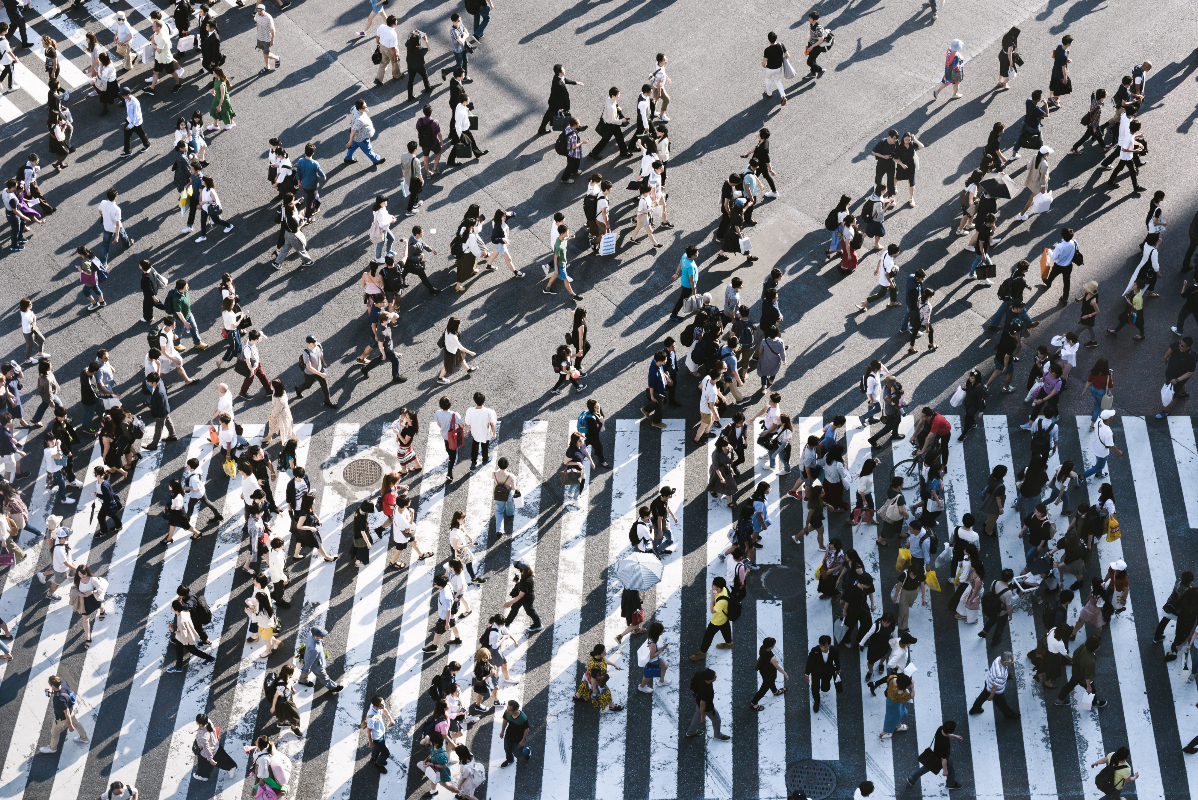 Crowded intersection in Japan