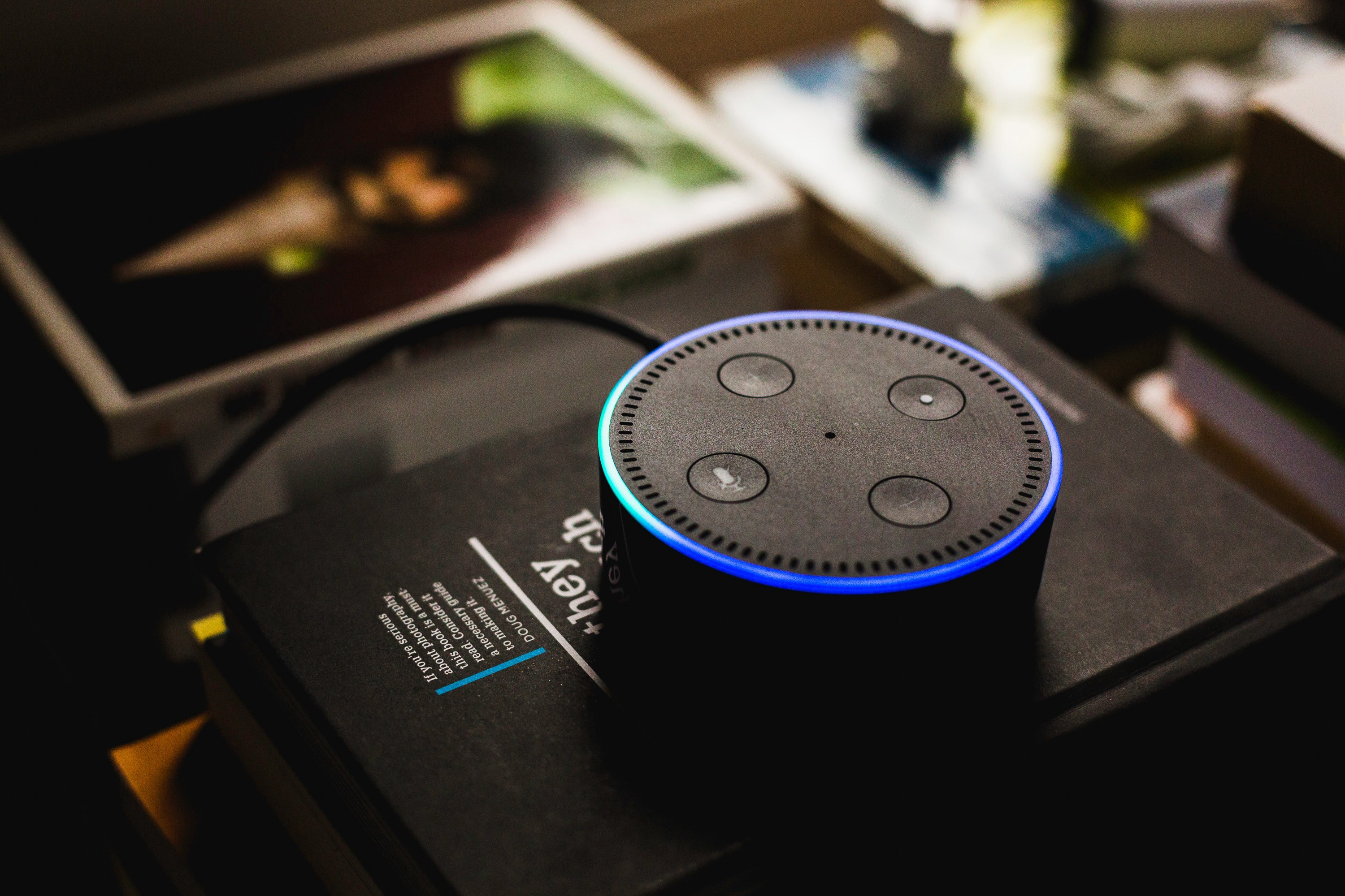 Image of Amazon Echo Dot. Photo by Andres Urena on Unsplash