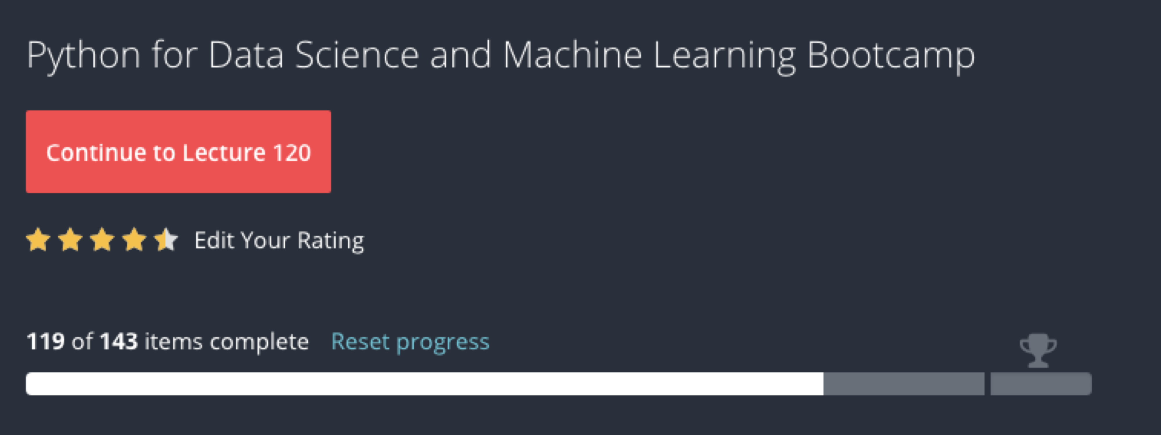 Python for Data Science and Machine Learning Bootcamp Review