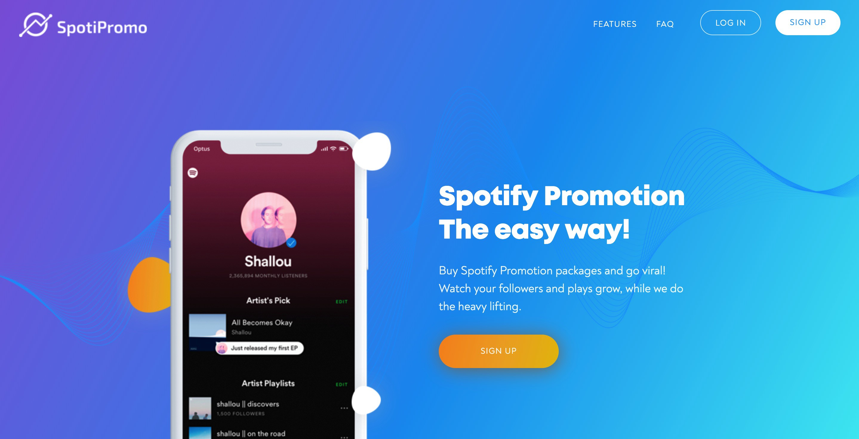 Start your spotify promotion campaign on https://spotipromo.com