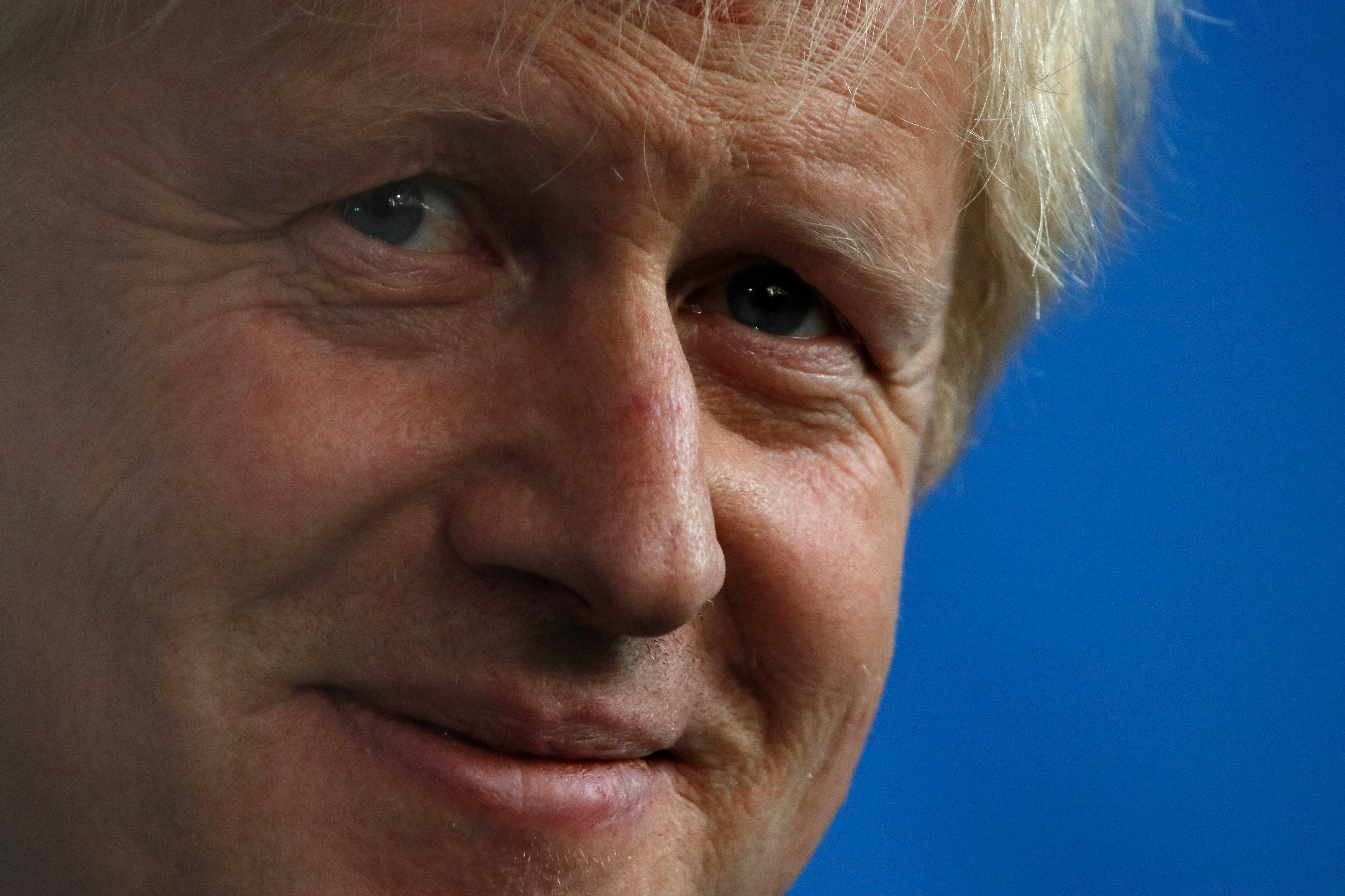 Close up picture of Boris Johnson with a slight smirk