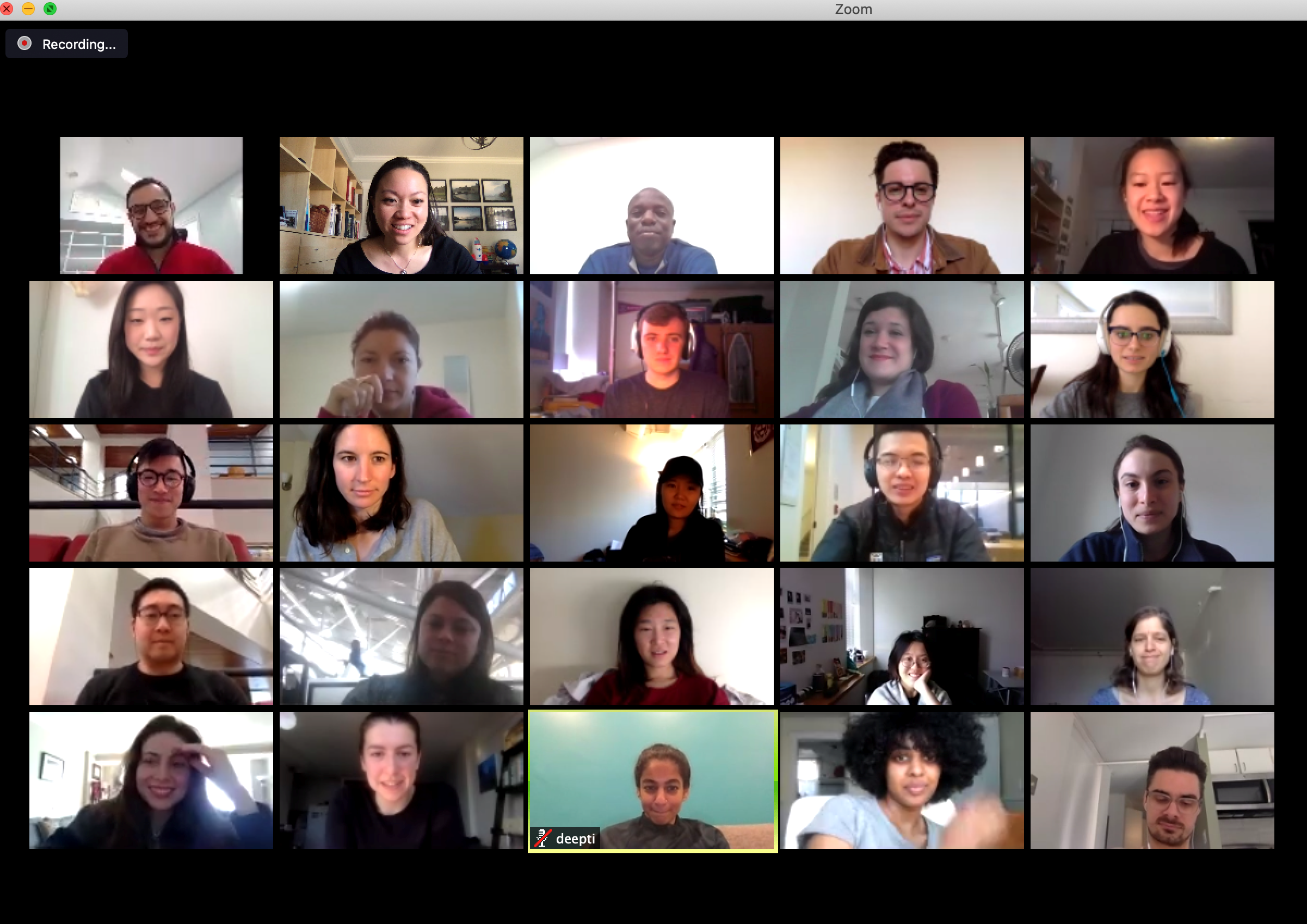 A screenshot of a Zoom call with 25 participants