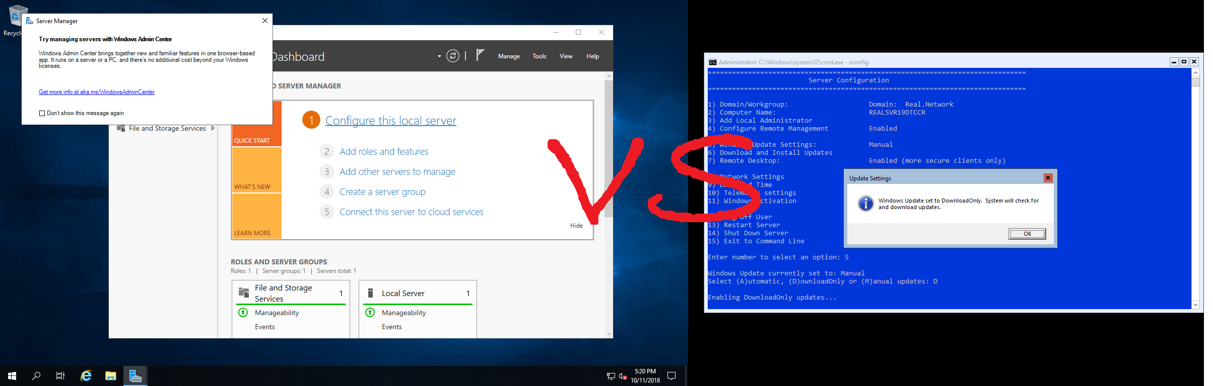 Windows Server 2019 — Server Core vs  Desktop Experience