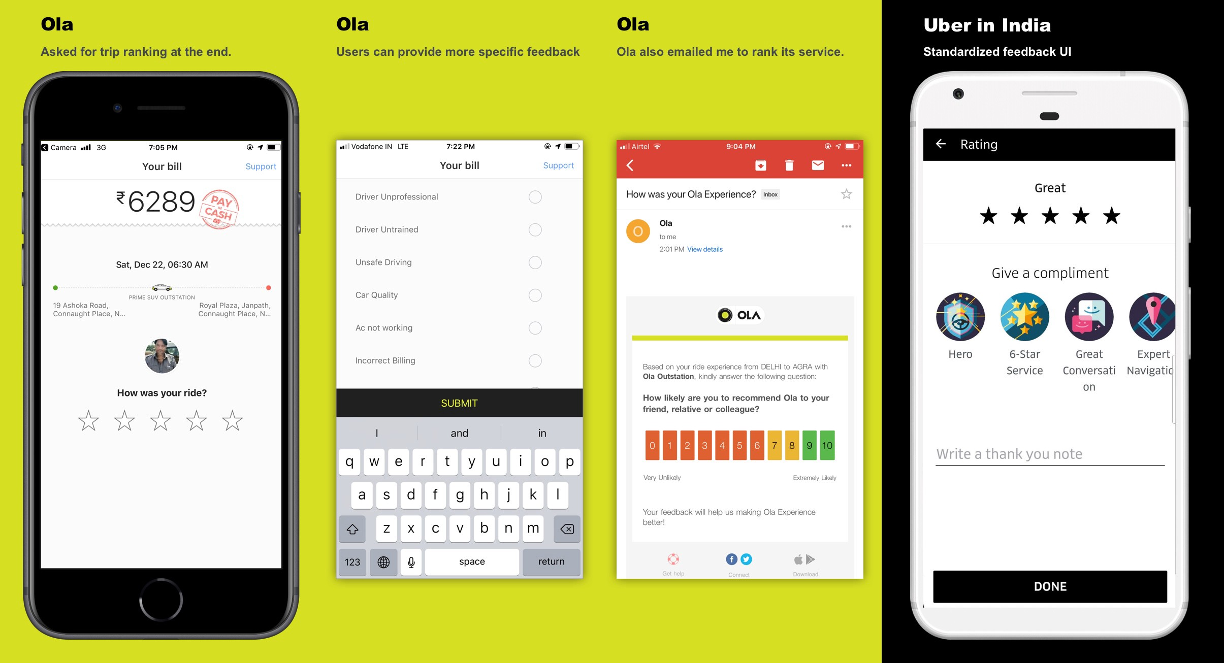 Uber India v s  Ola cabs — A UX Evaluation - UX Collective