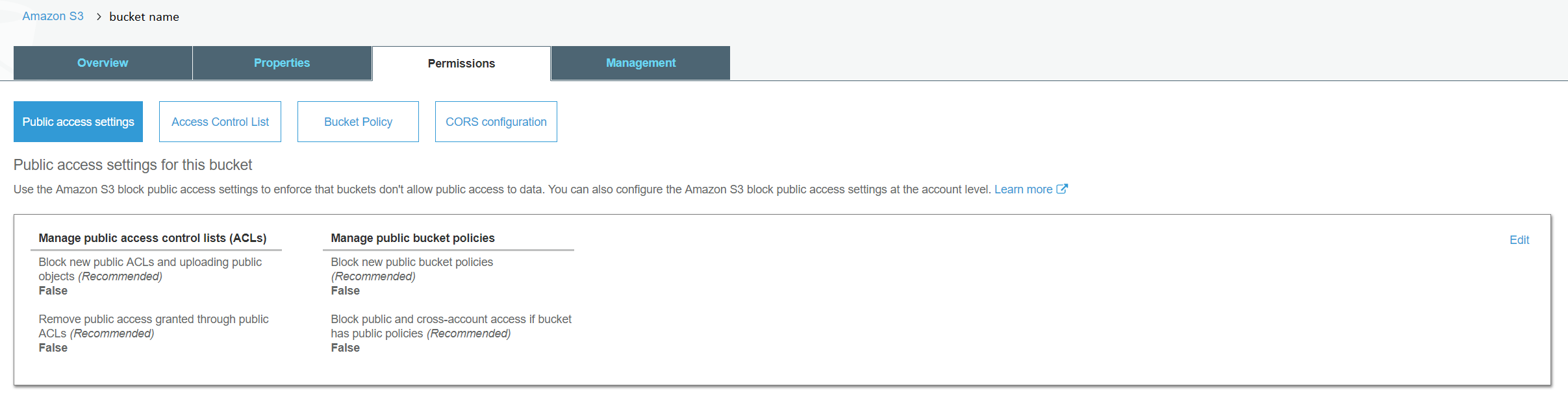 Review on s3 Bucket latest Security feature — Public Access